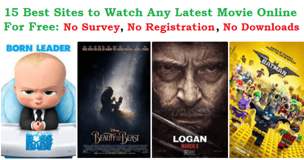 15 Best Movie Streaming Websites To Watch Any Latest Movie Online for Free