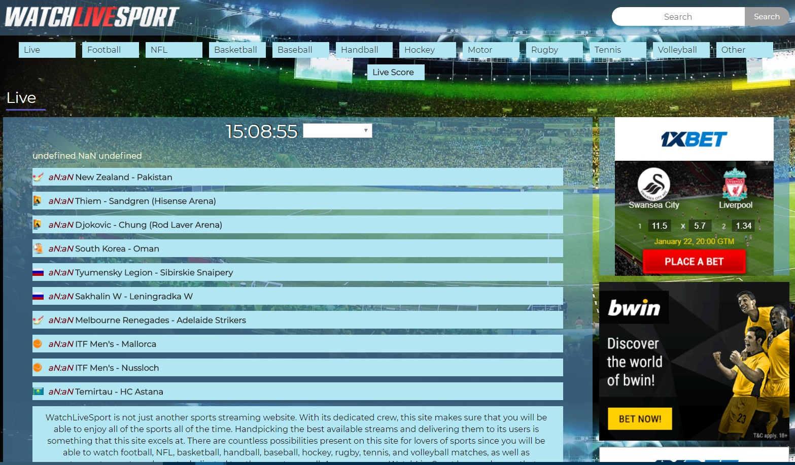 Website To Watch Sports Live