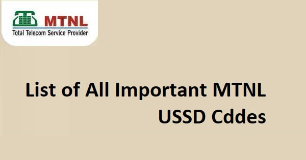 MTNL All USSD Codes List To Know MTNL Balance, Offers, Plans & More