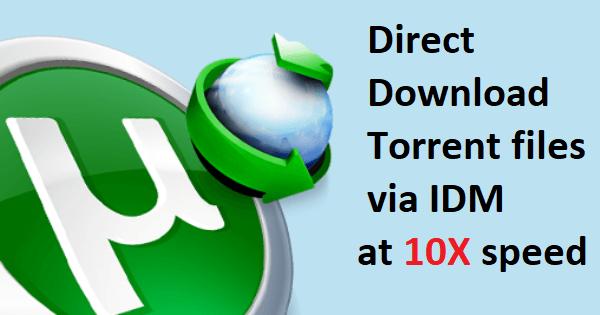 torrent via internet download manager