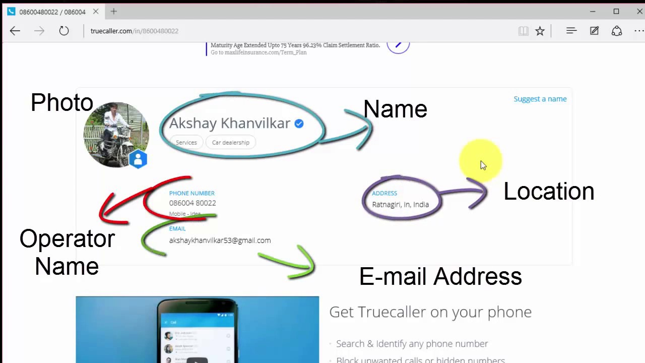 how to search phone number owner