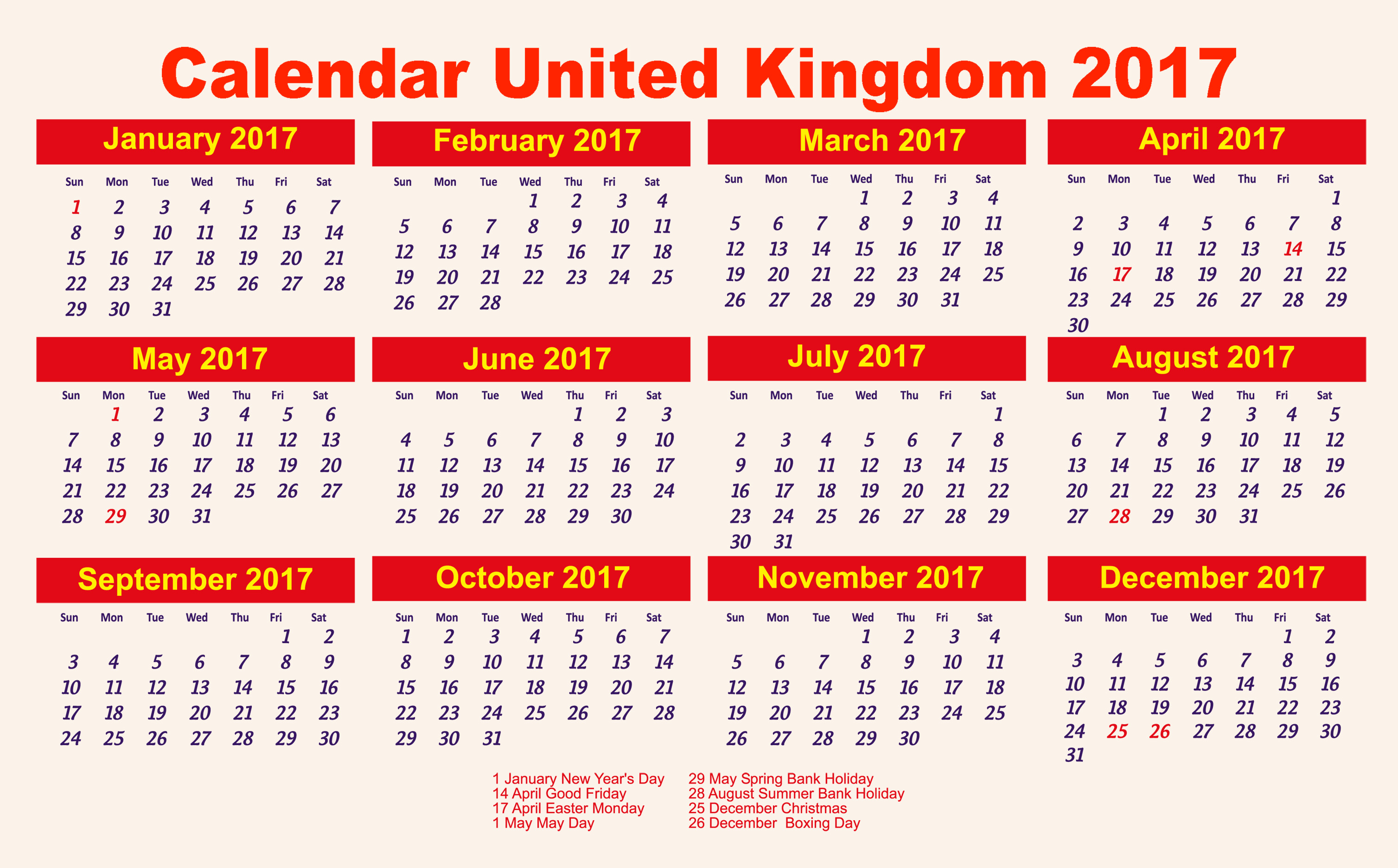 Corporate Calendar 2017 : Calendar important templates of