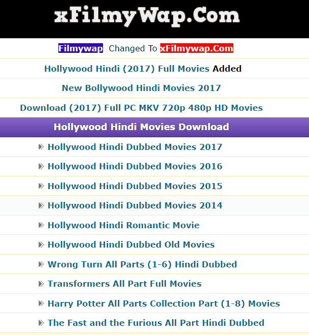 Top 10 Sites To Download New Hollywood Movies in Hindi (Full HD)