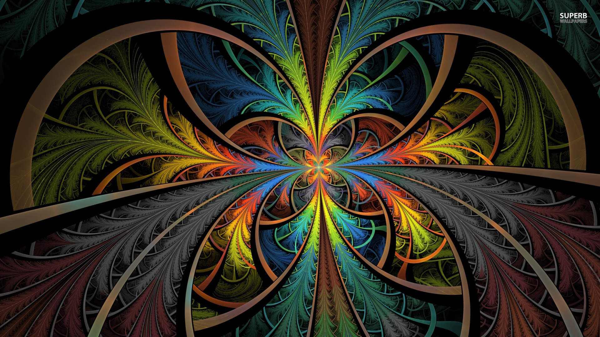 1360x768 Psychedelic Wallpaper