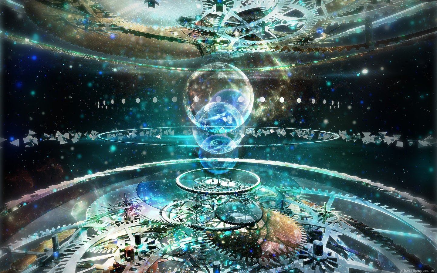 3d Technical Psychedelic Wallpaper