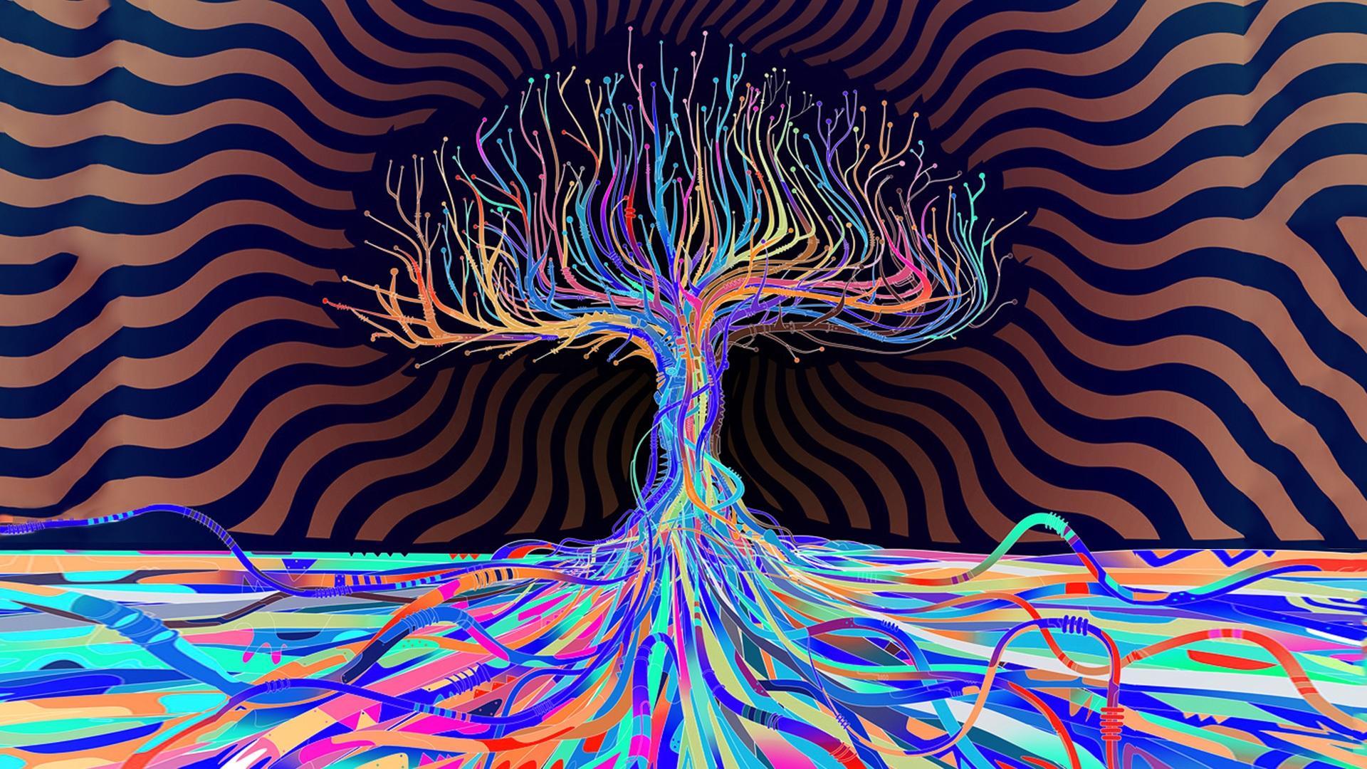 4k Psychedelic Wallpaper Peace