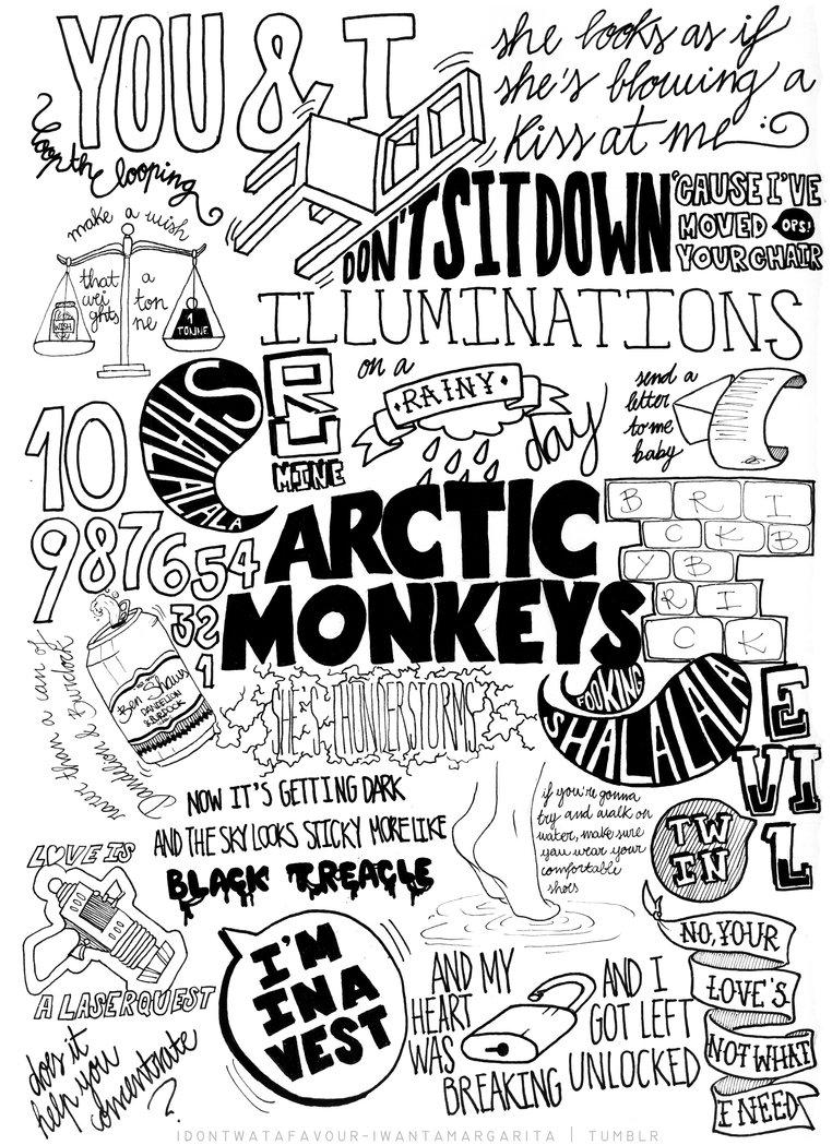 Artic Monkeys Trippy Wallpaper