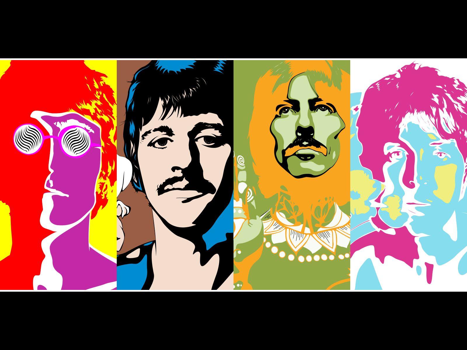 Beatles Psychedelic Wallpaper