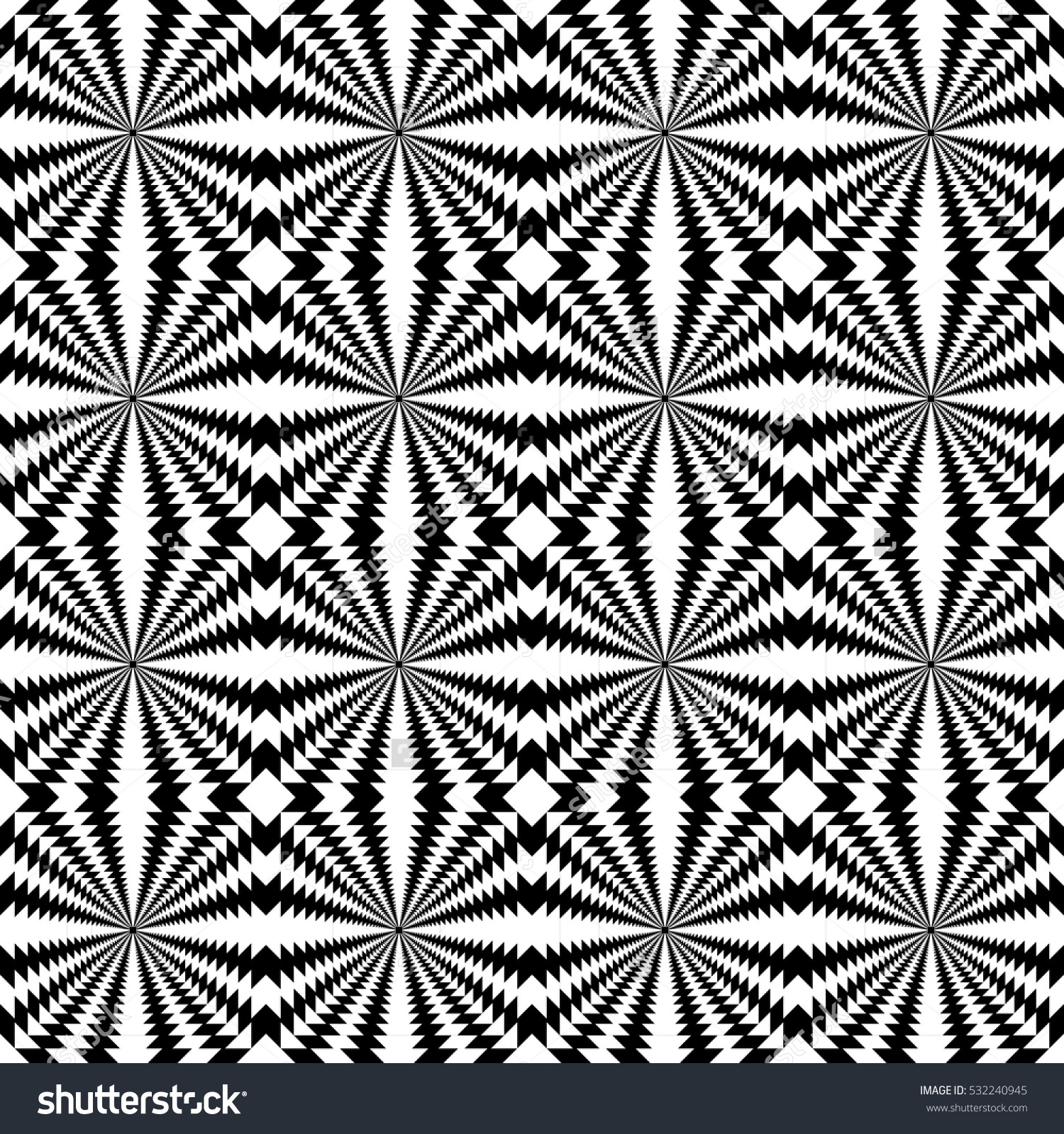Black And White Psychedelic Background Template