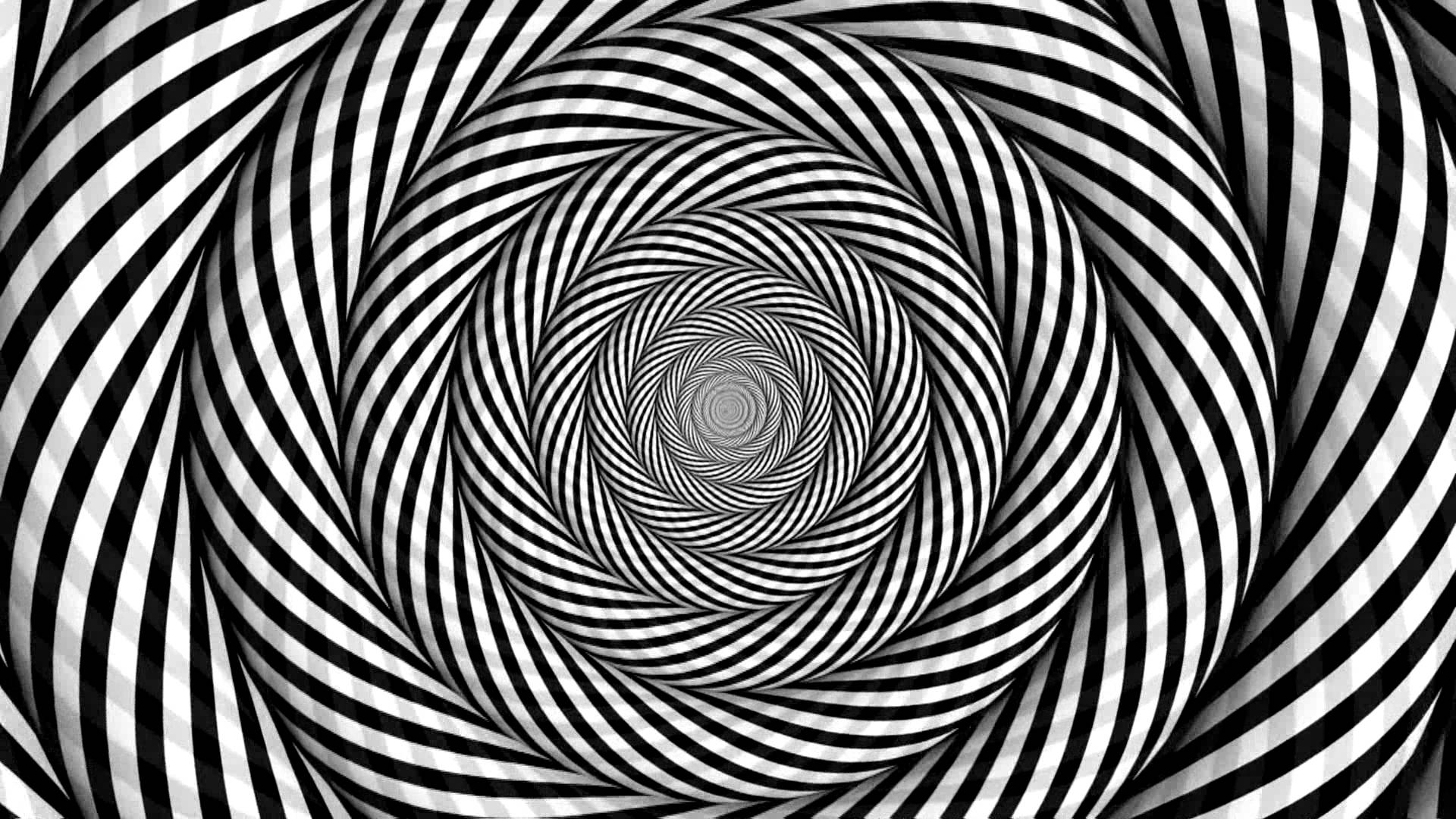 Black And White Trippy Background