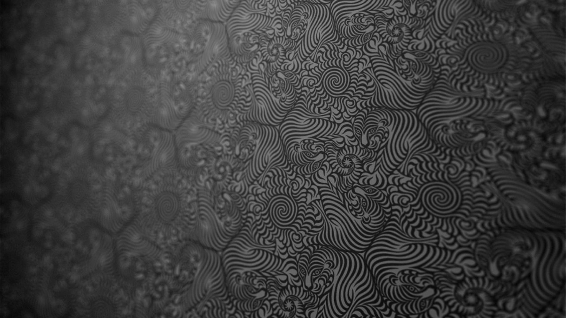 Black Psychedelic Background