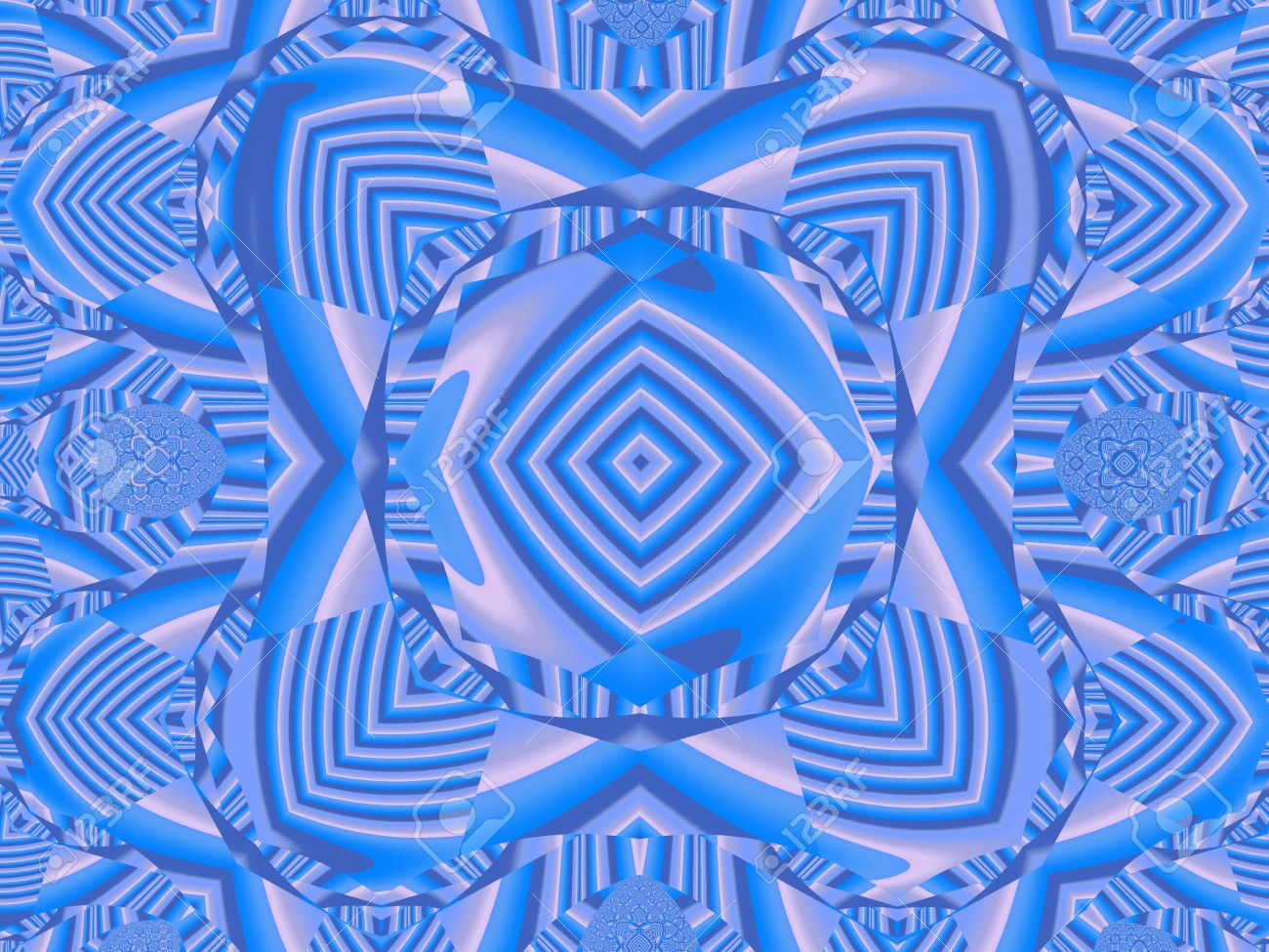 Blue Psychedelic Background
