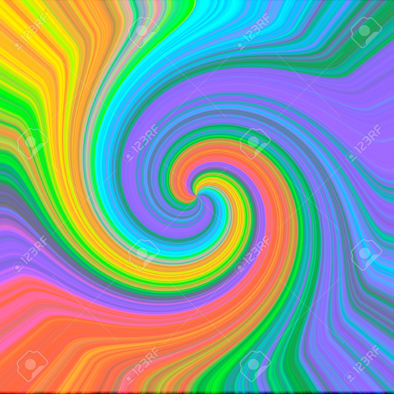 Colorful Psychedelic Background Illustration