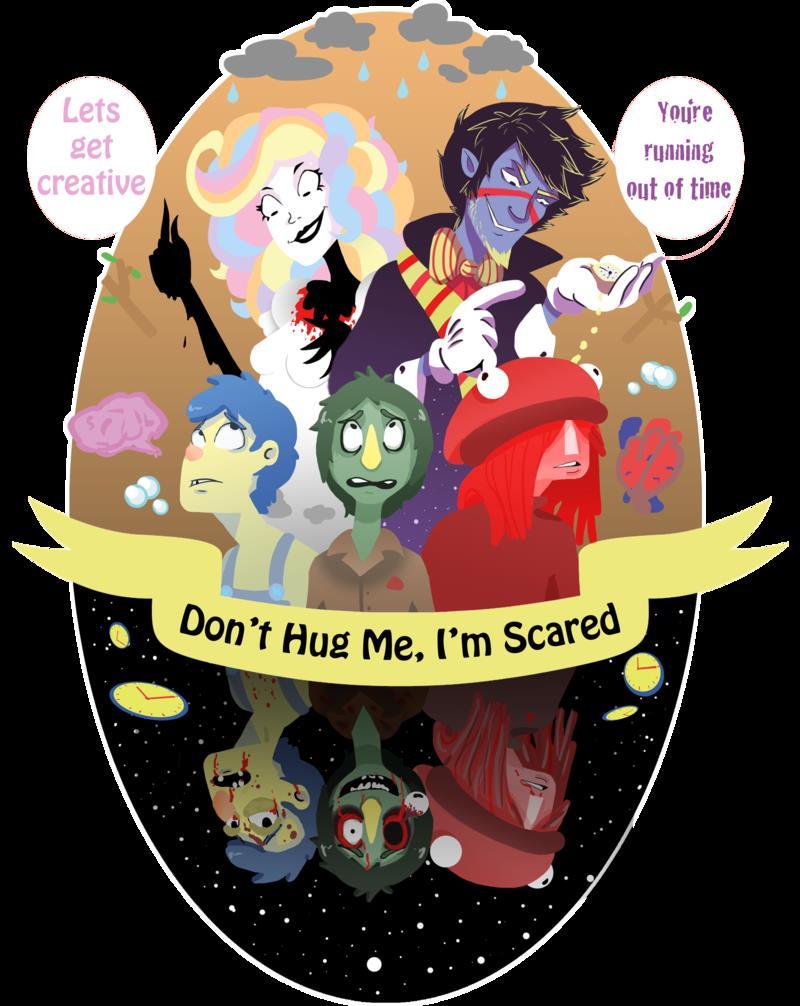 Dont Hug Me Im Scared Trippy Wallpaper