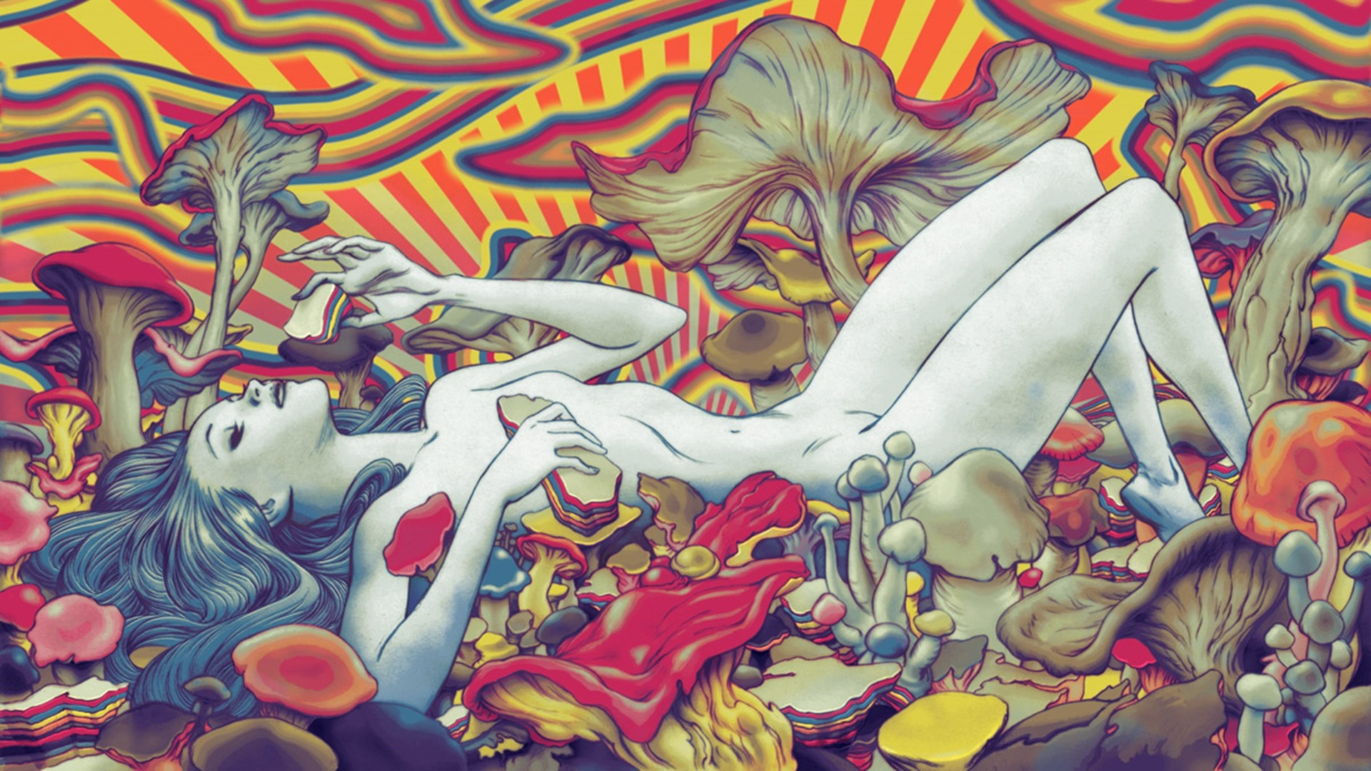 Female Psychedelic Wallpaper 1920x1080