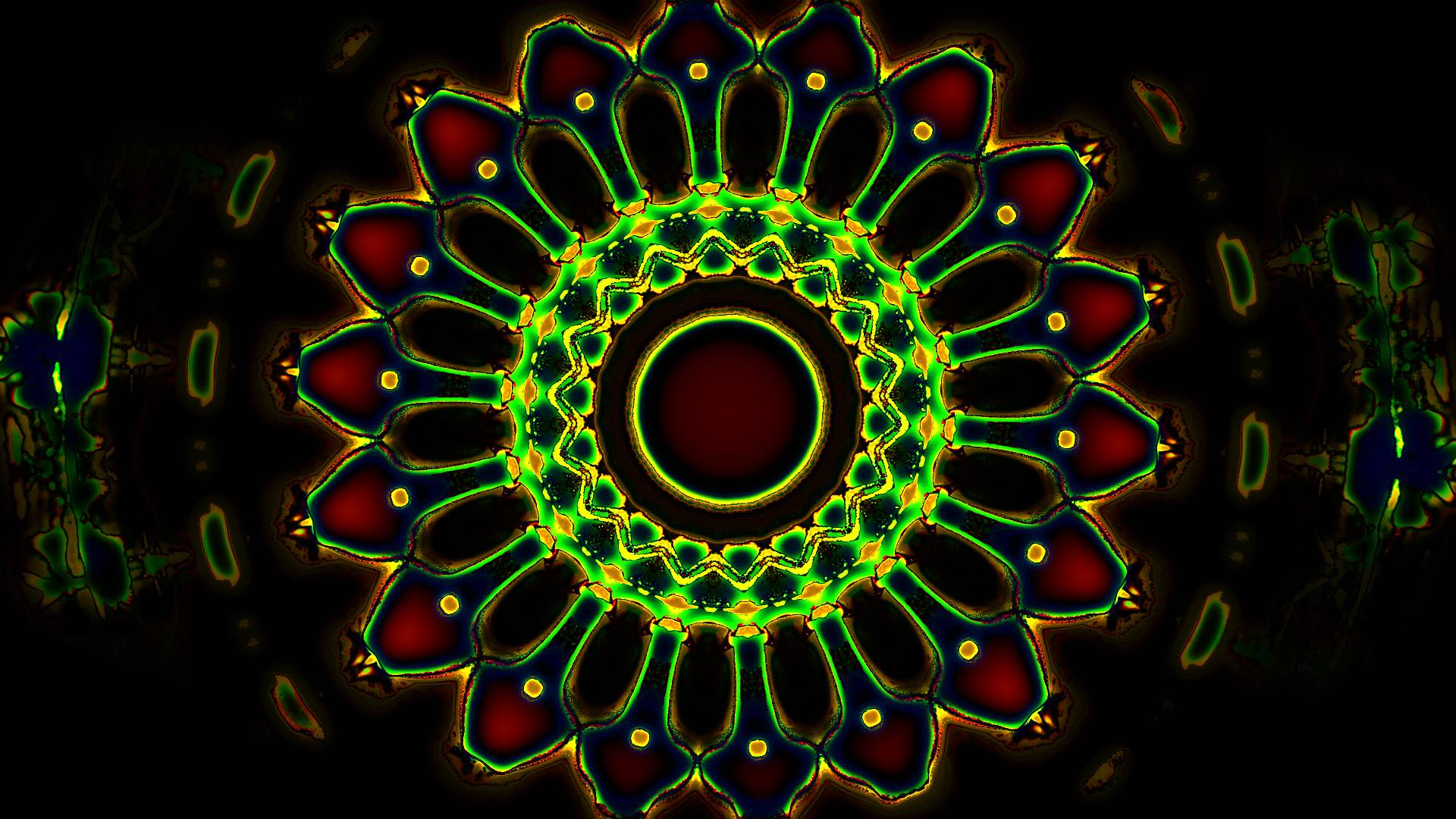 hd green trippy wallpaper - supportive guru