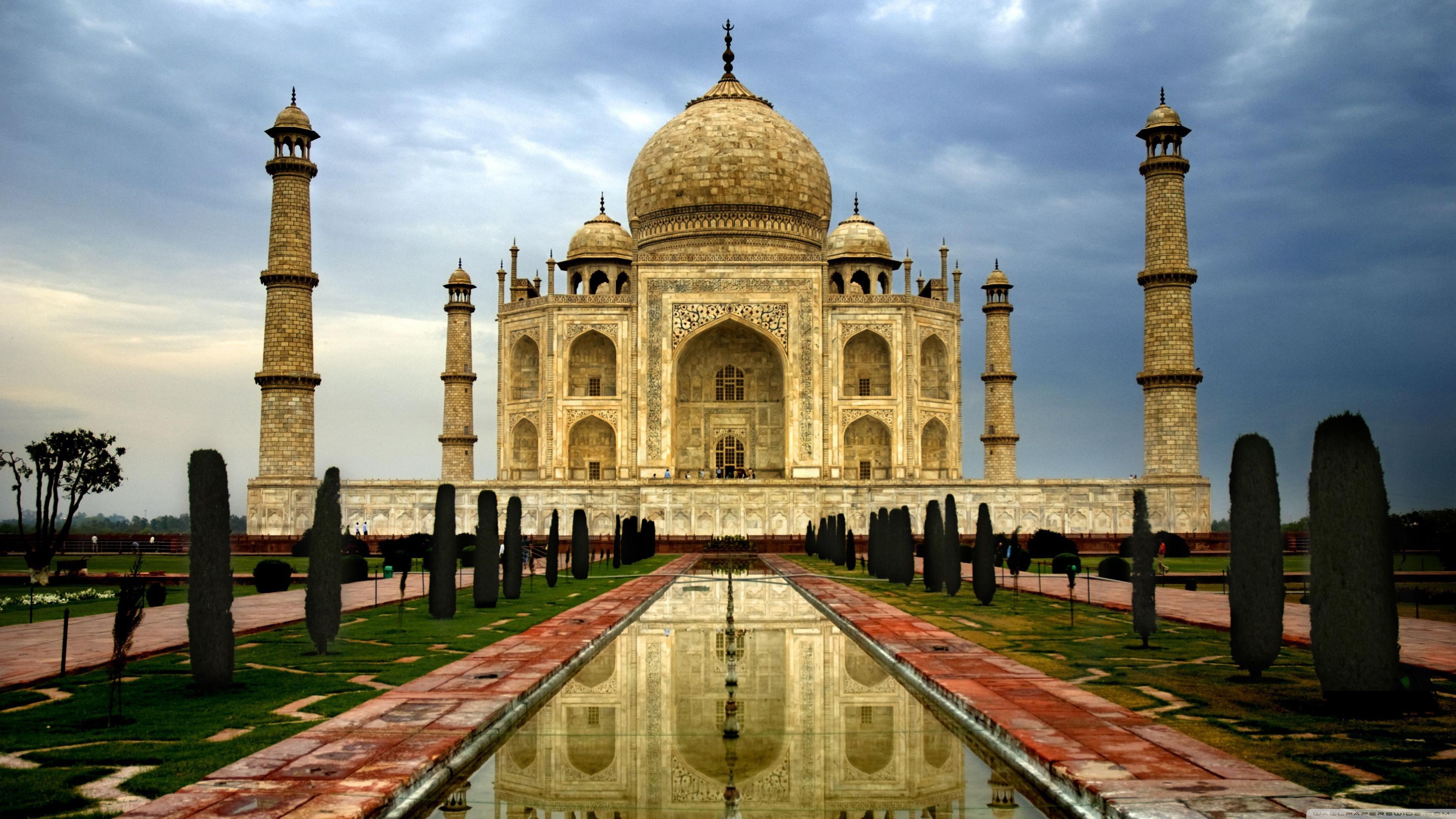 India Taj Mahal Trippy Background