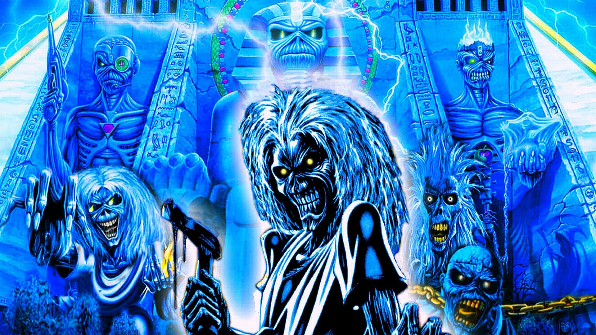 Iron Maiden Psychedelic Wallpaper