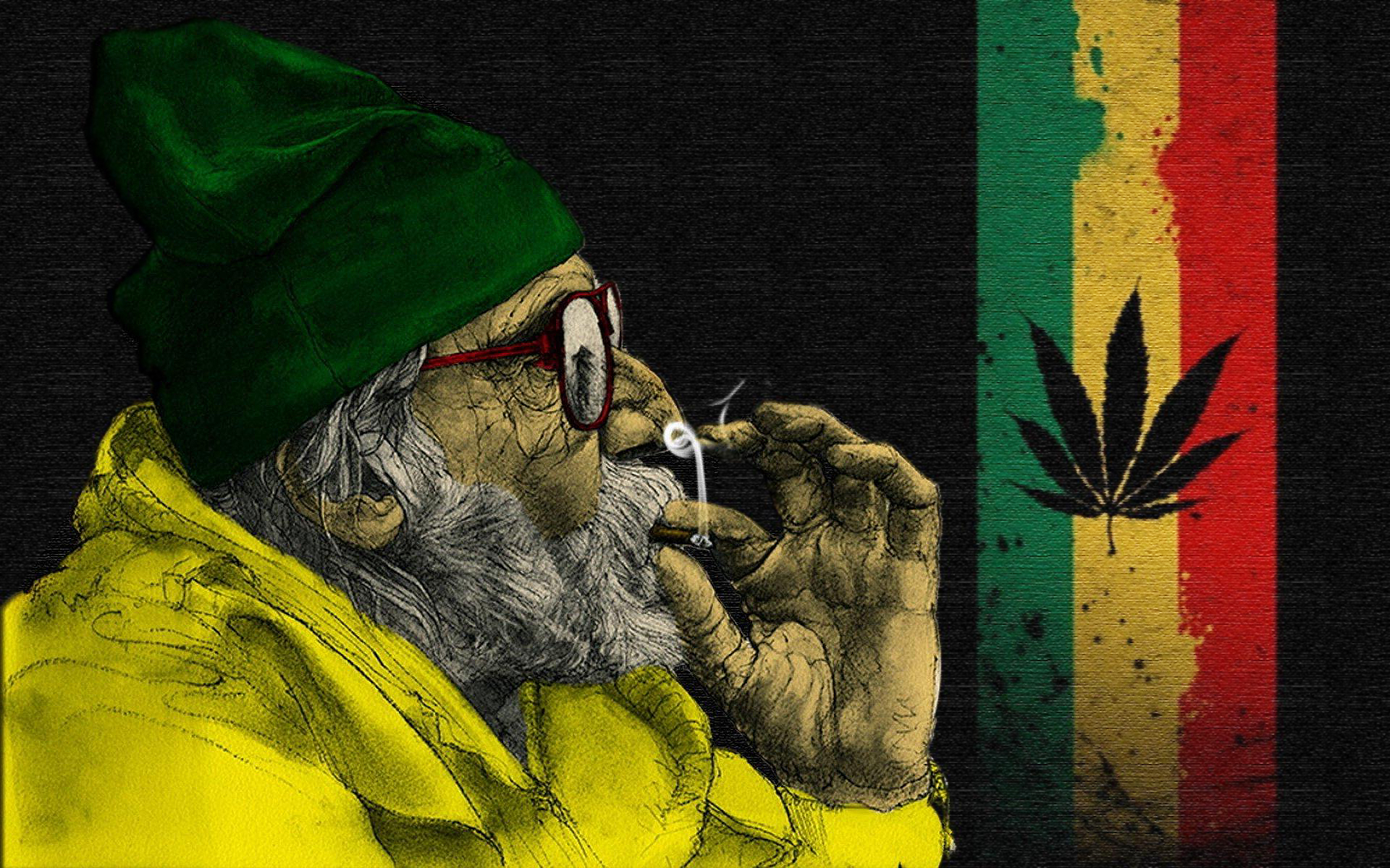 Jamaican Psychedelic Background