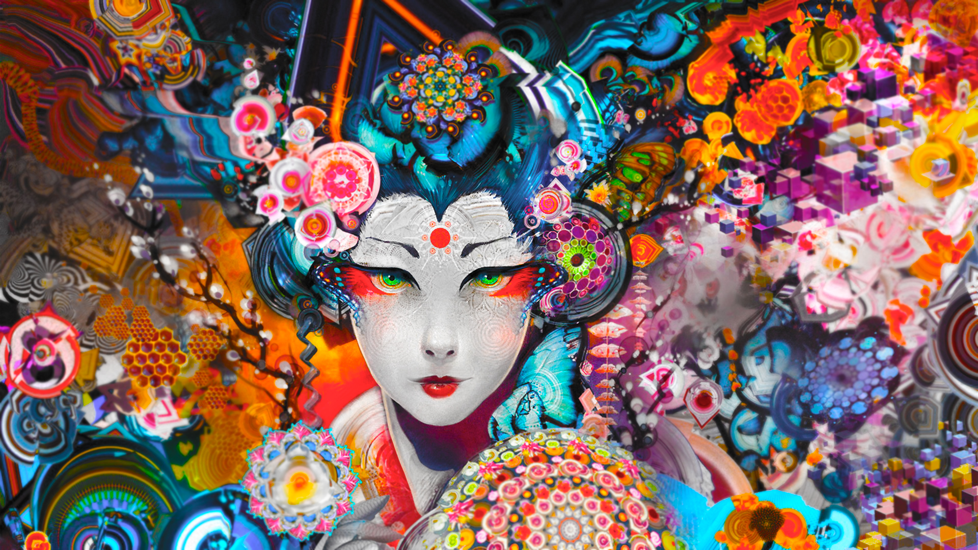 Japanese Psychedelic Wallpaper 1920x1080