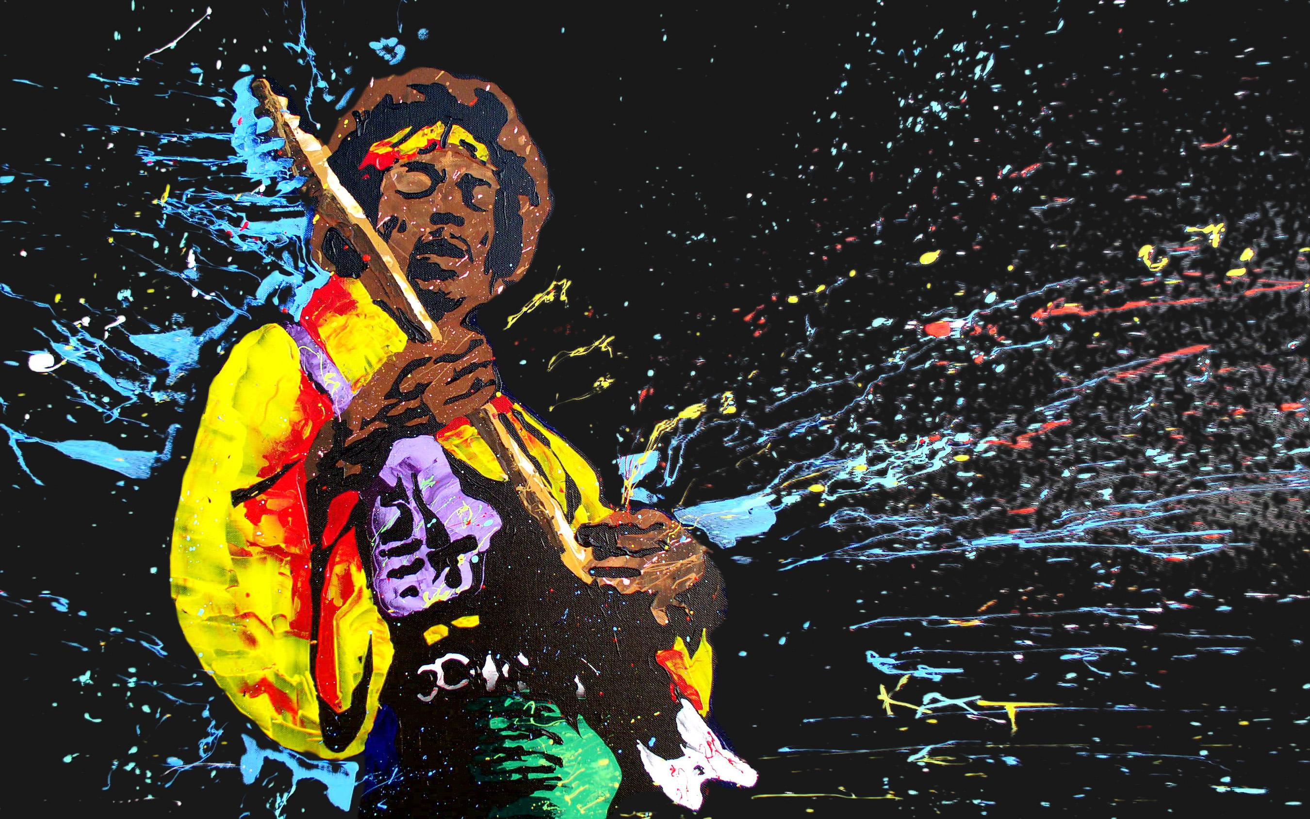 Jimi Hendrix Trippy Wallpaper