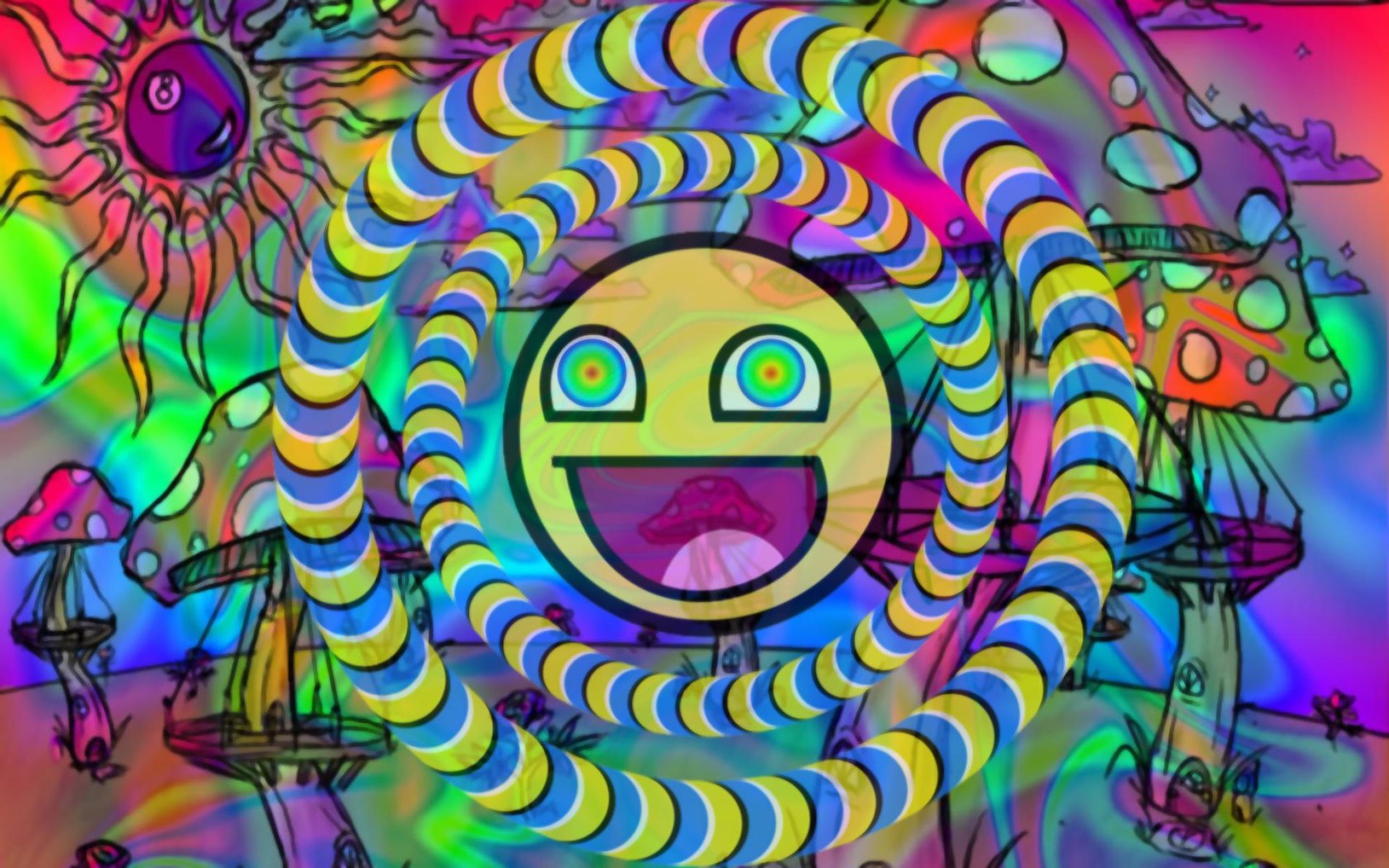 Neon Trippy Wallpaper