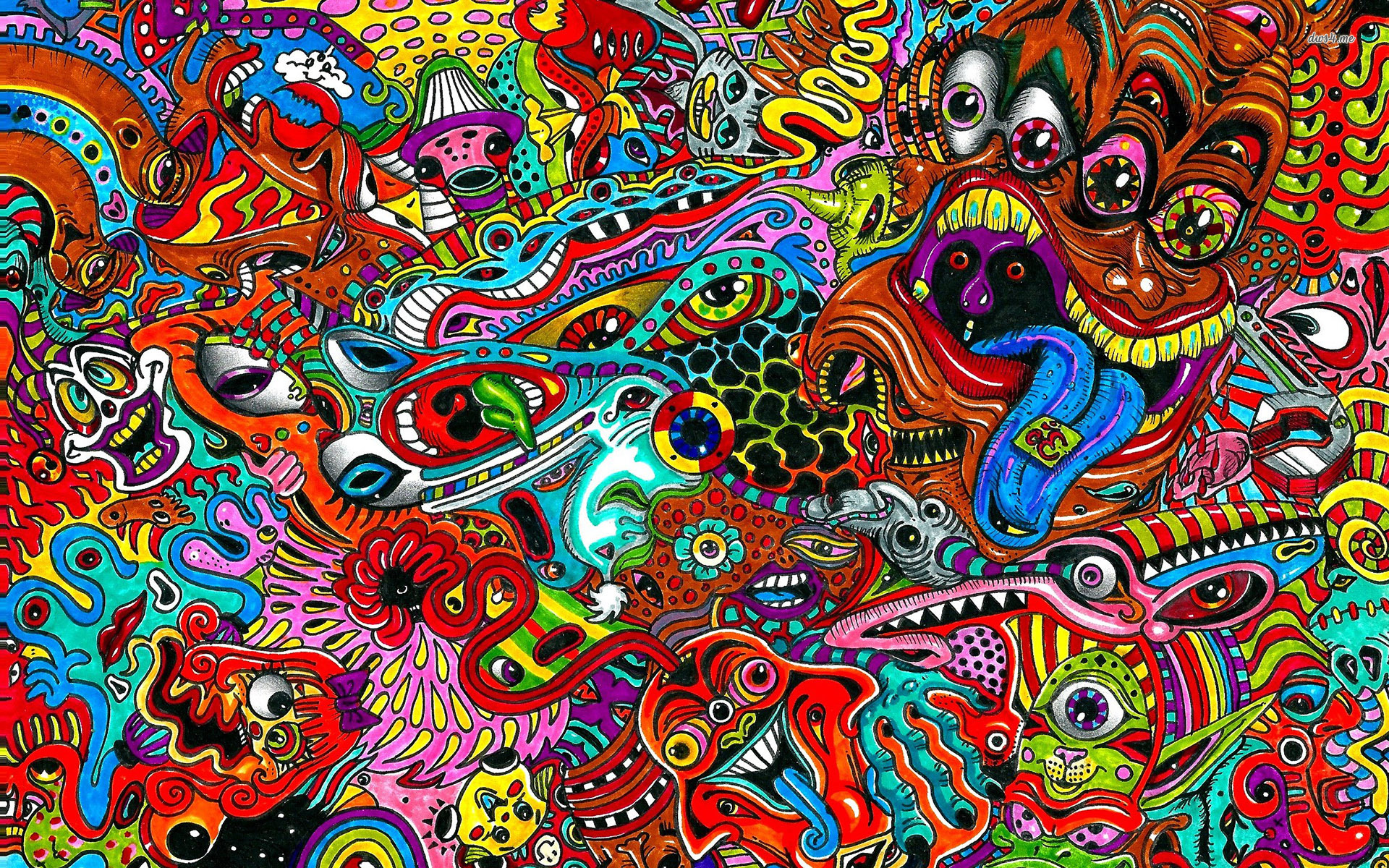 New Hd Detailed Psychedelic Background