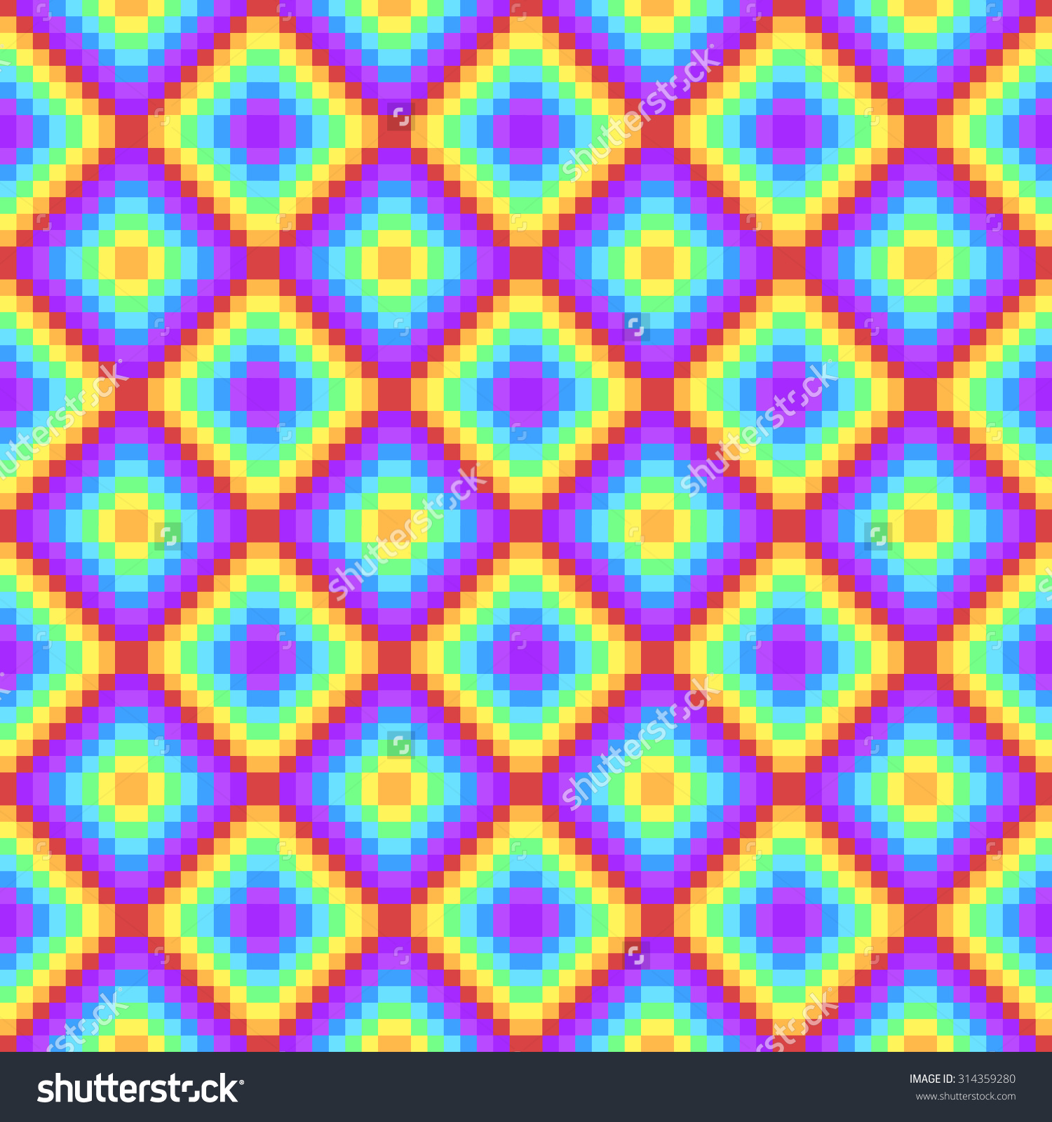 Pixel Psychedelic Background