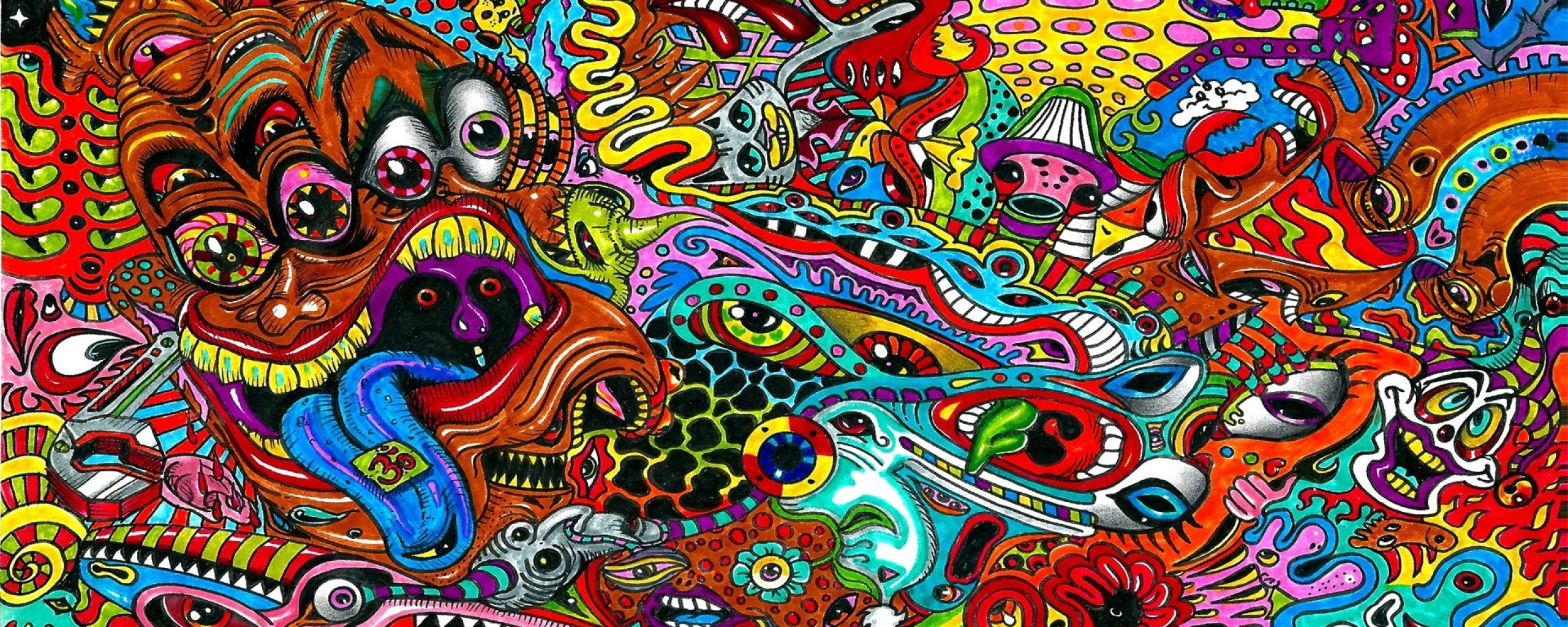 Psychedelic Wallpaper 2560x1024