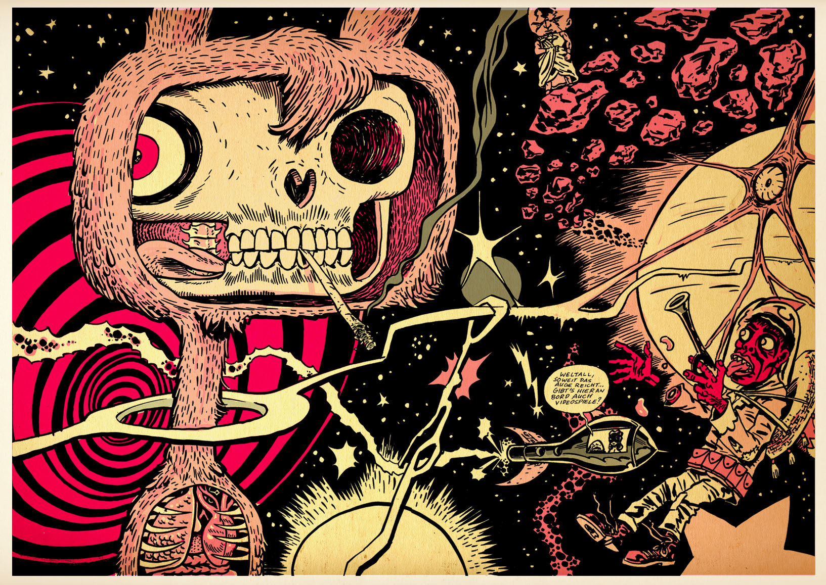 Psychedelic Wallpaper Comic