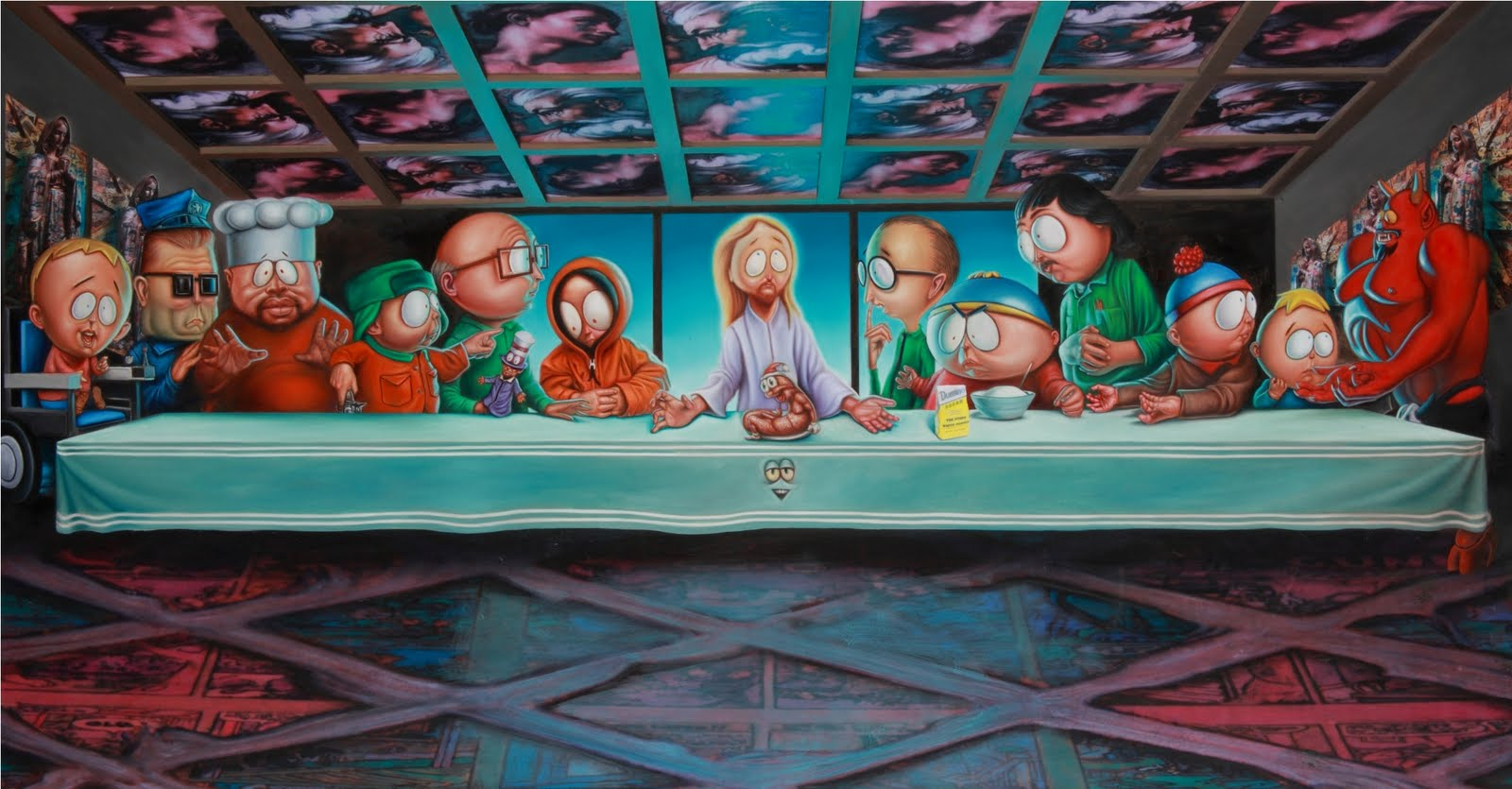 Psychedelic Wallpaper Last Supper