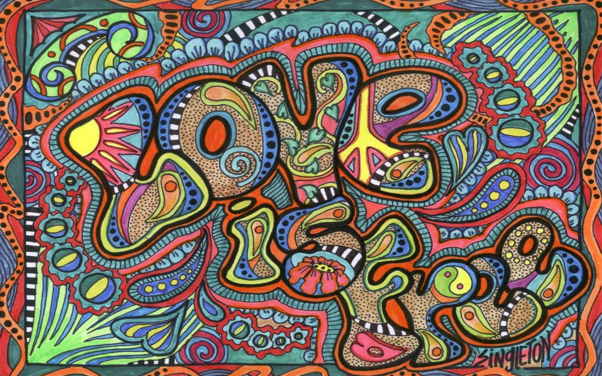 Psychedelic Wallpaper Love