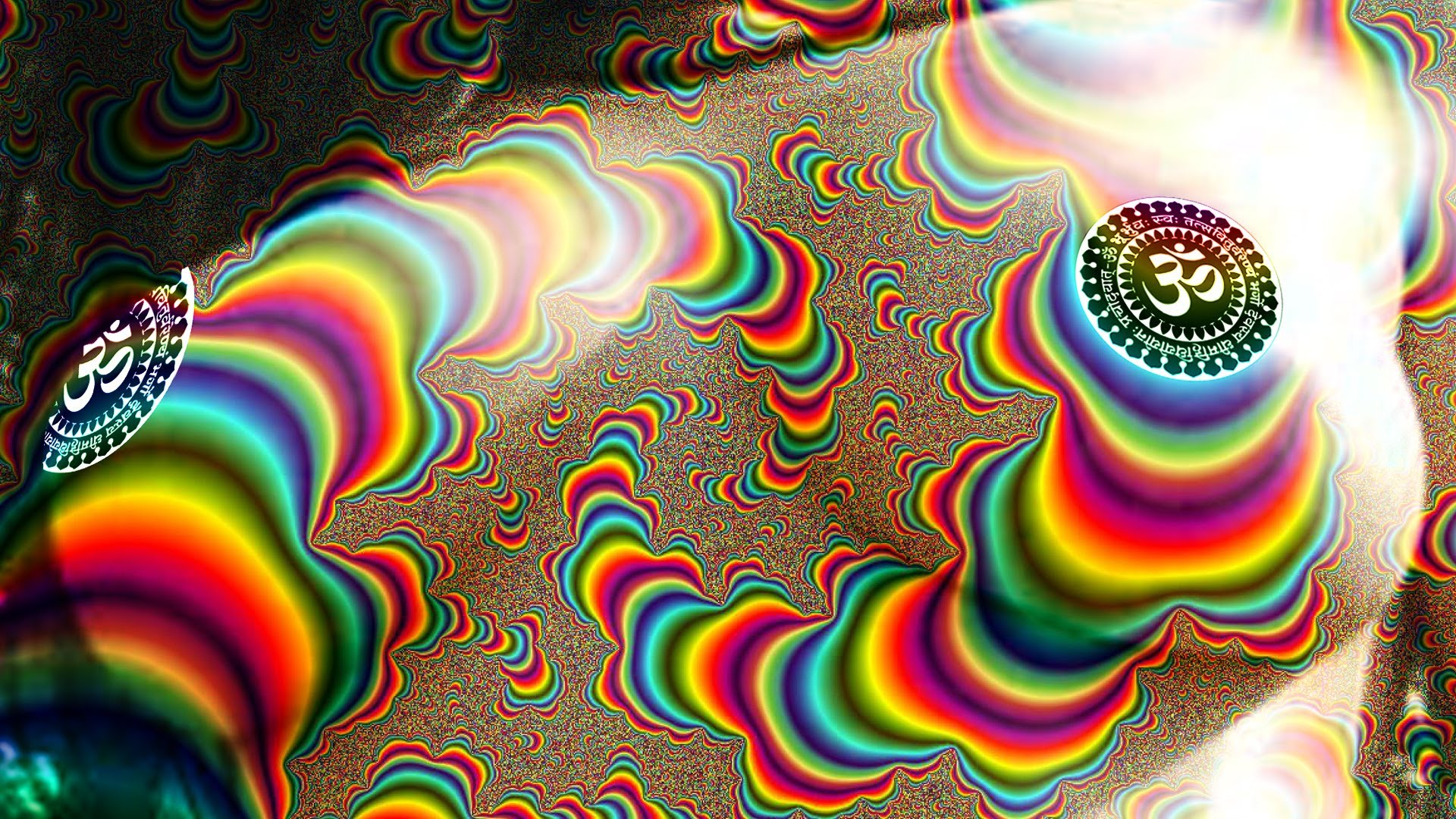 Psychedelic Wallpaper Naked Lady