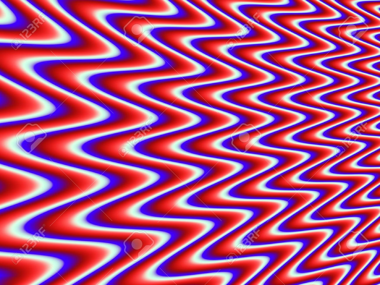 Red White Blue Psychedelic Background