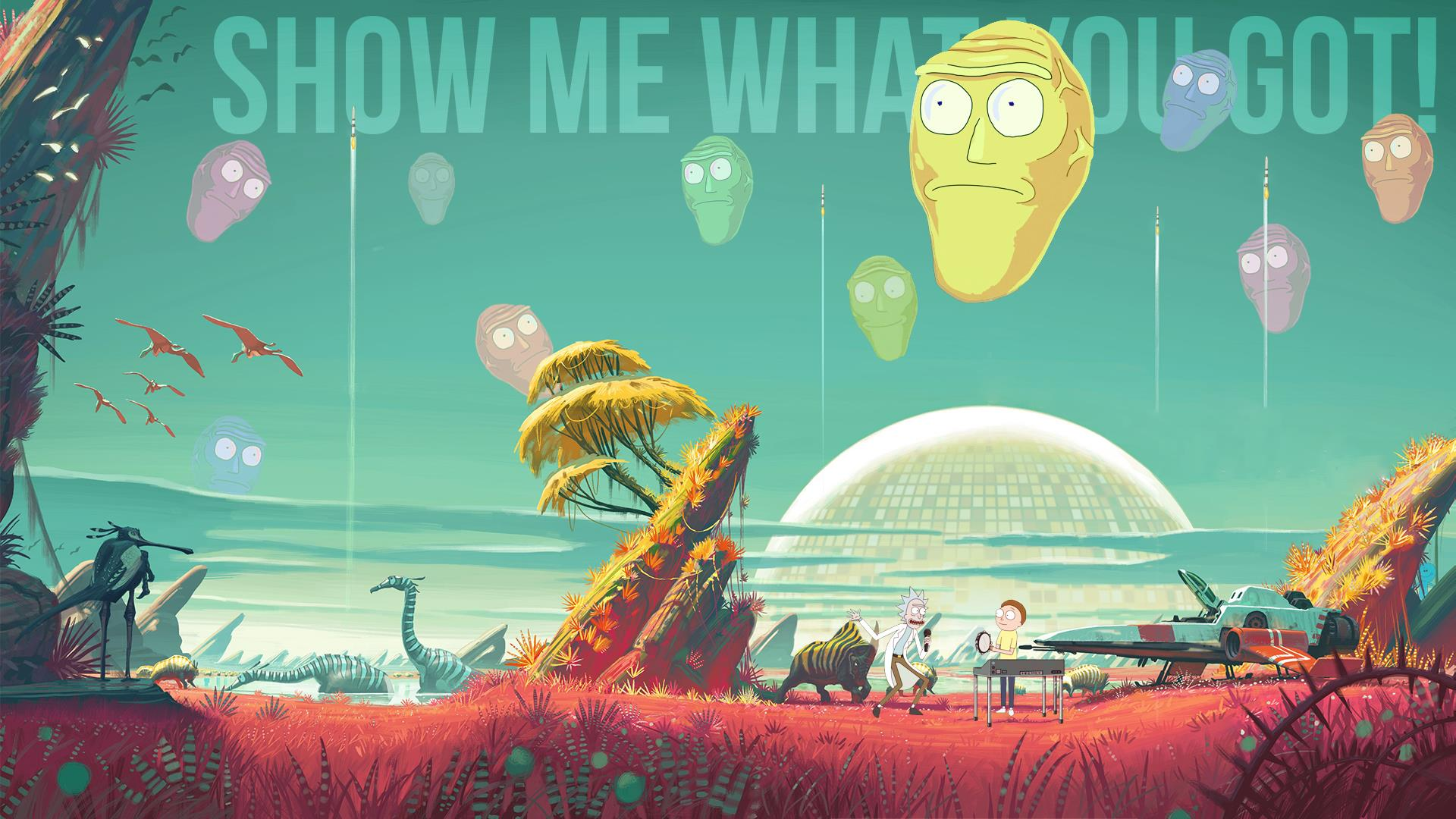 Rick And Morty Trippy Wallpaper 1080p Hd