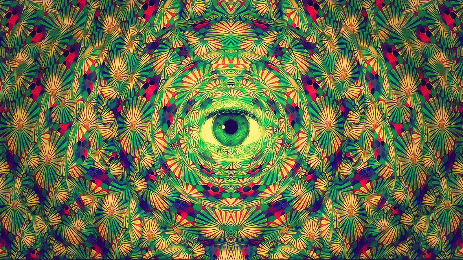 Sacred Geometry Psychedelic Wallpaper