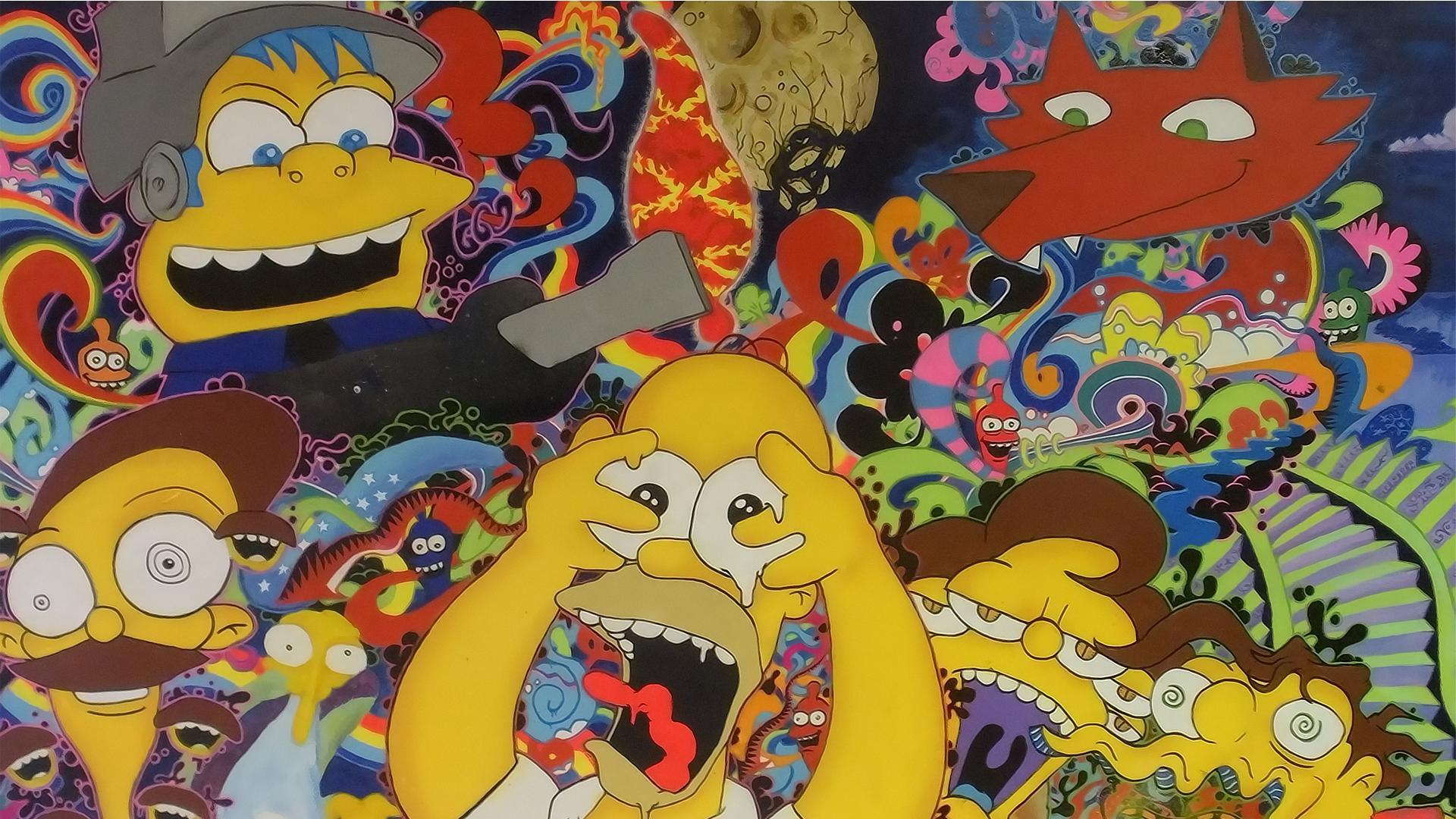 Simpsons Trippy Background