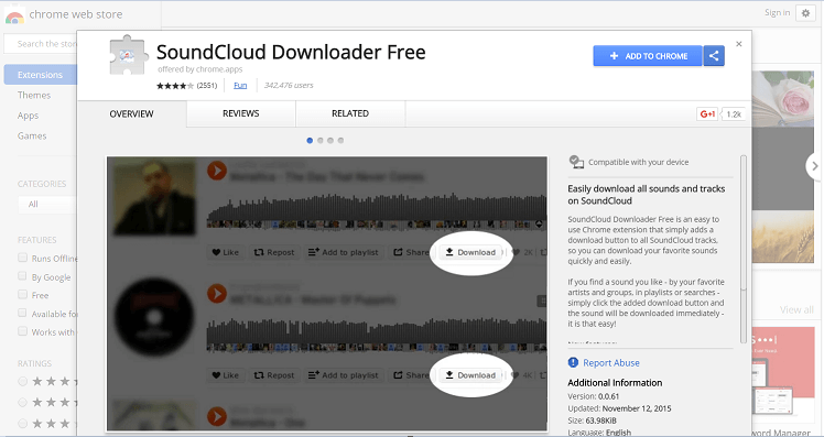 SoundCloud Downloader Free Chrome Extensoin