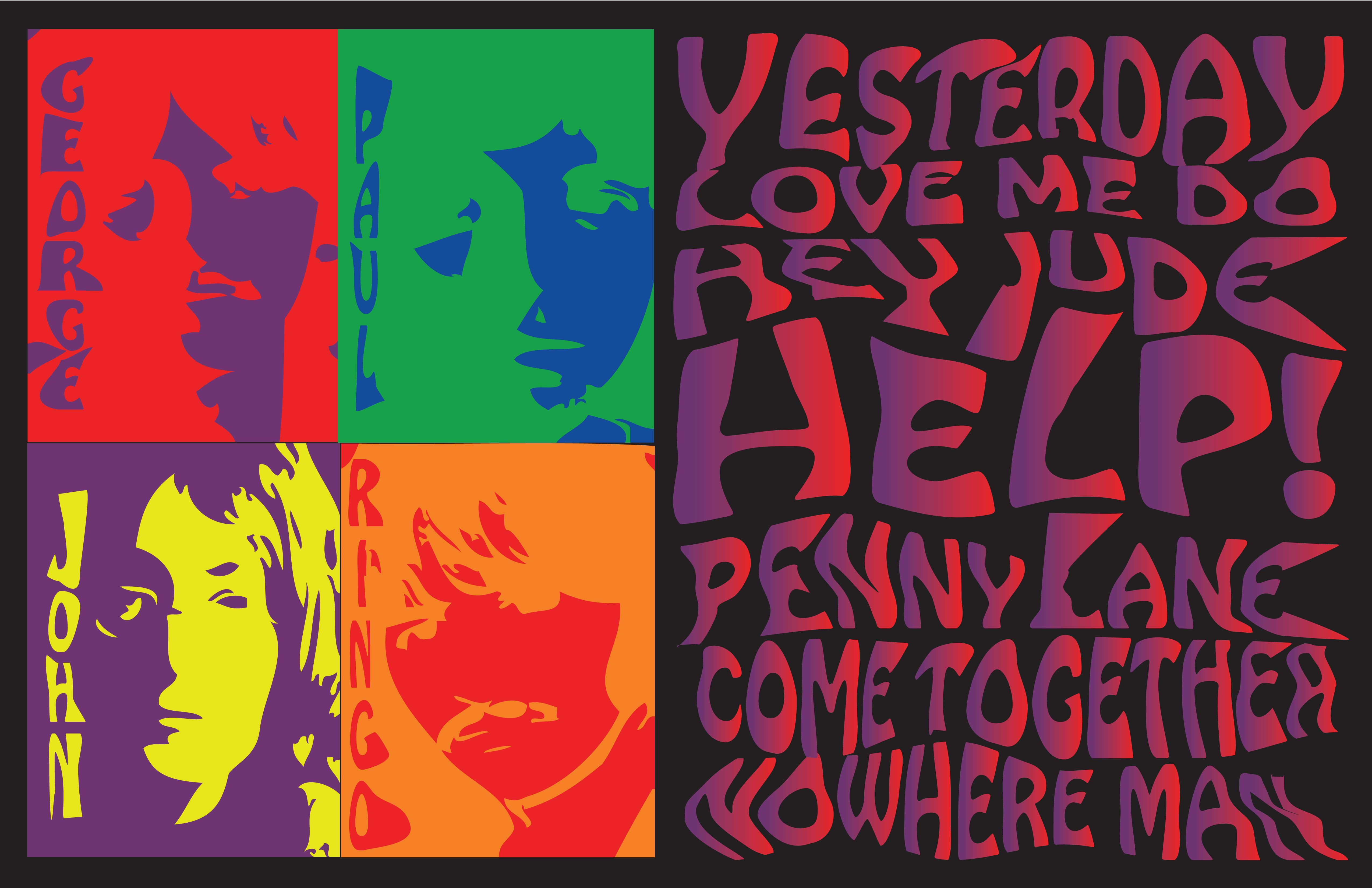 The Beatles Psychedelic Wallpaper