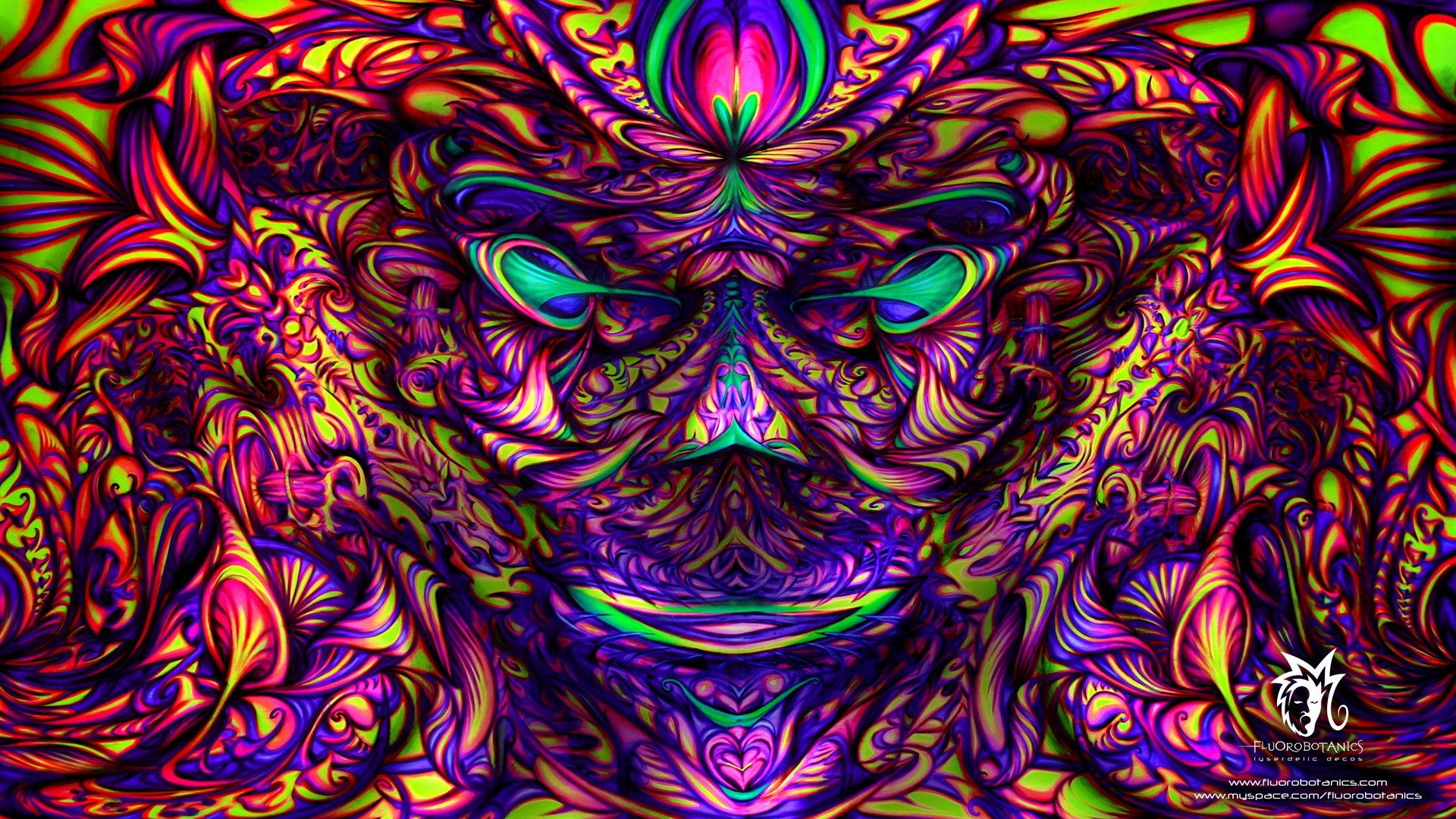 Trippy Psychedelic Background Colors