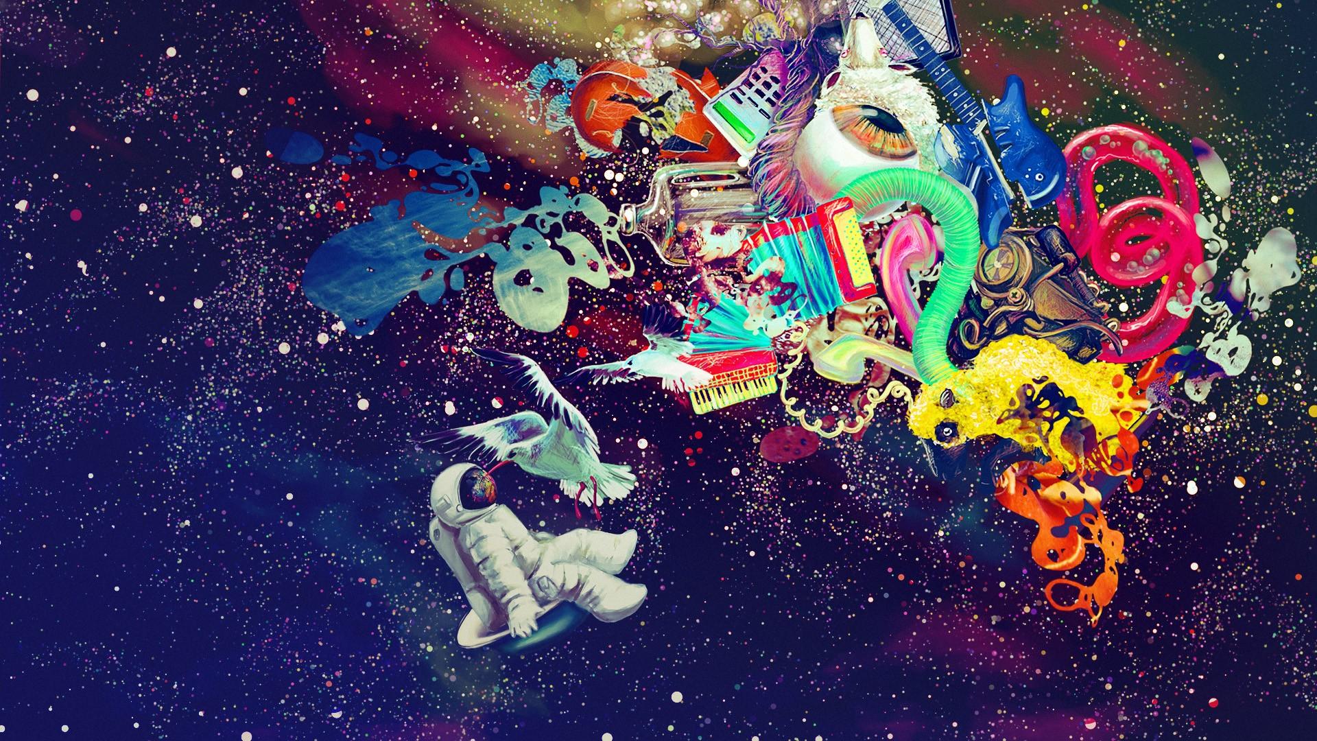 Trippy Wallpaper Astronaut