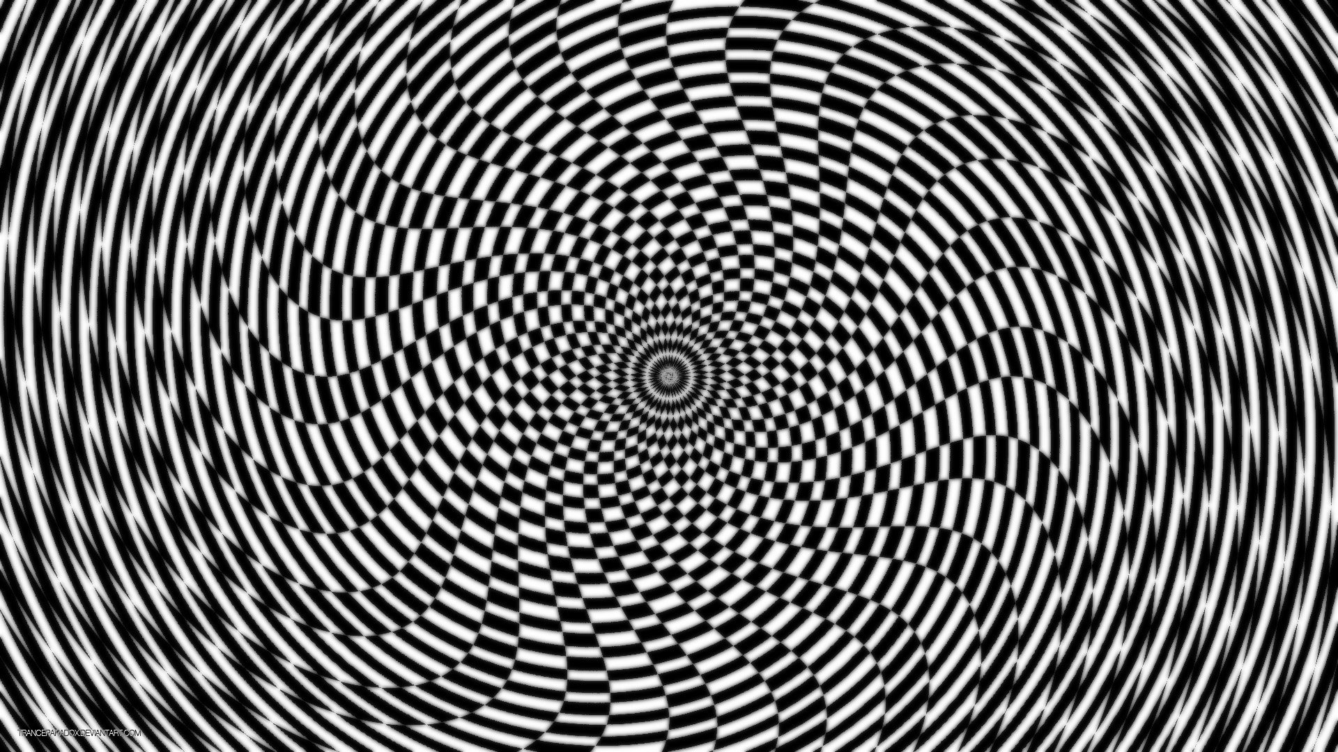 Trippy Wallpaper Black And White
