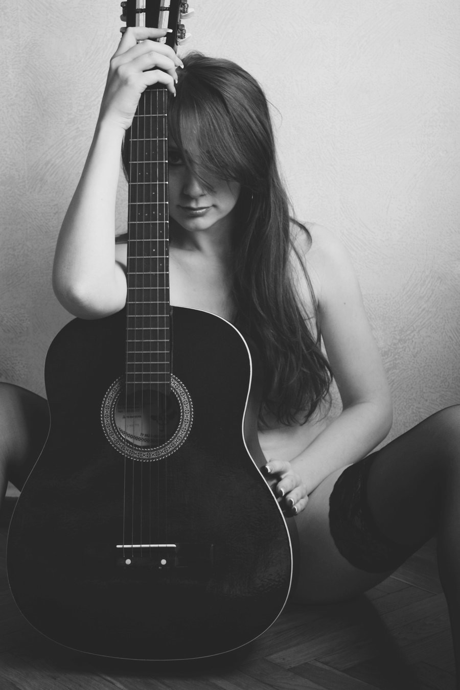 Stylish girl with guitar images