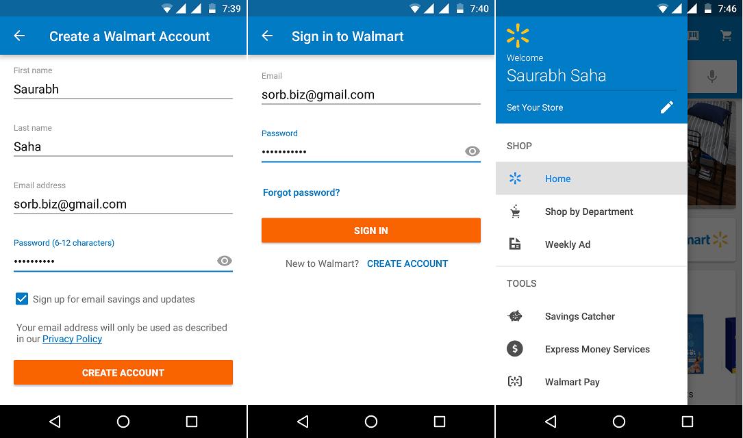 Walmart Signup Login