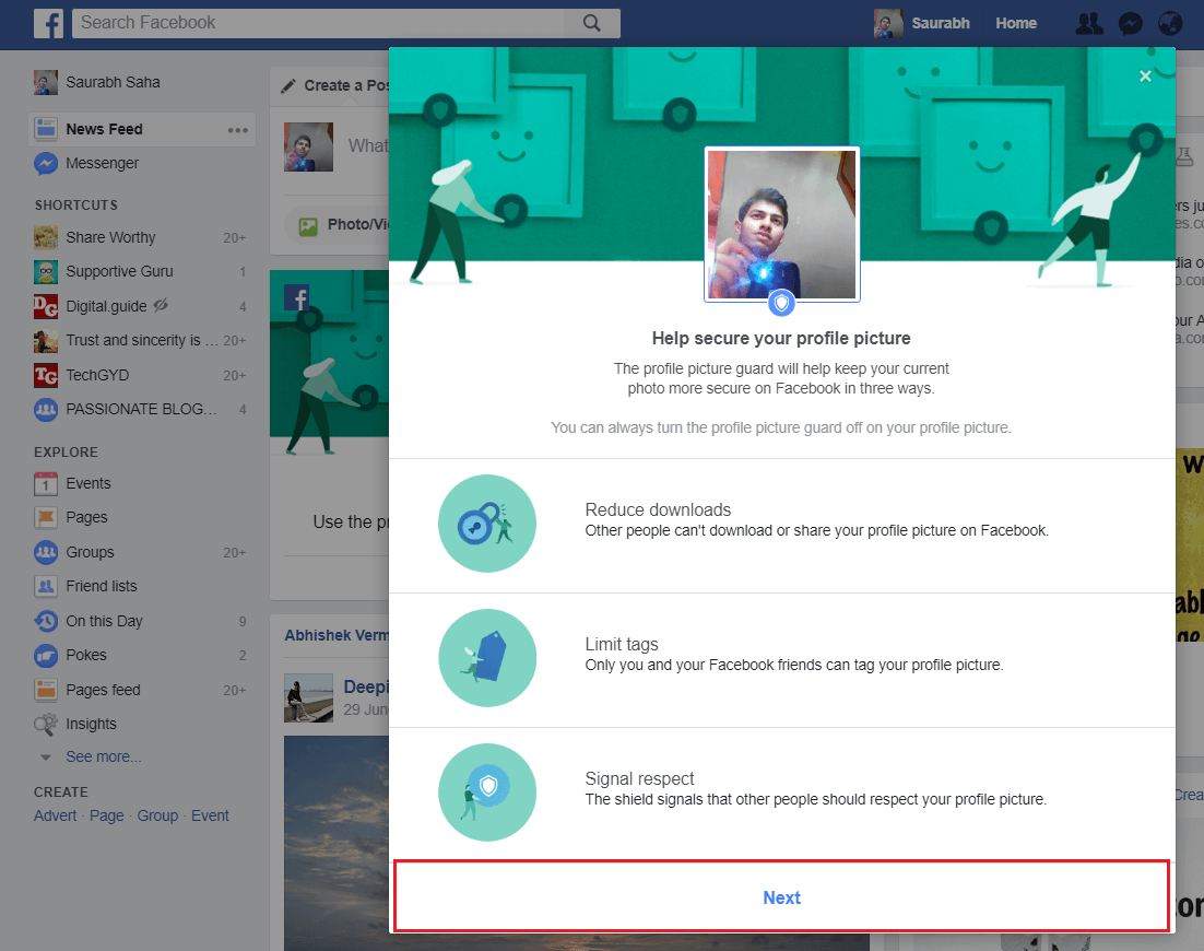FB Profile Guard Features
