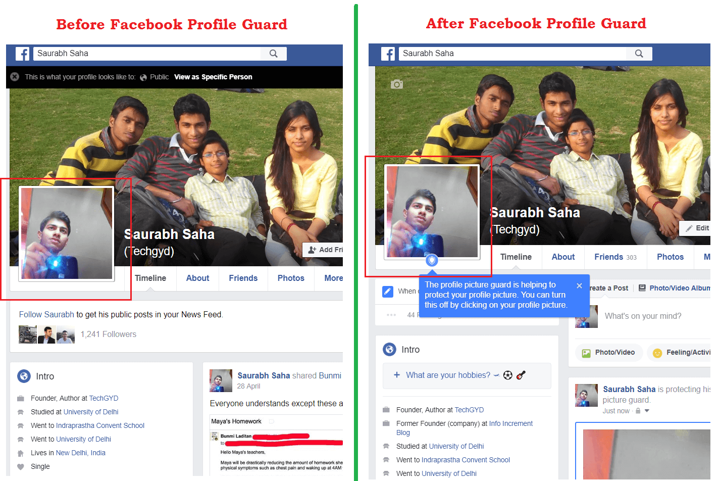 Facebook Profile Picture Guard Active | Inactive