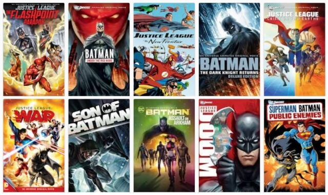All Justice League Animated Movies List
