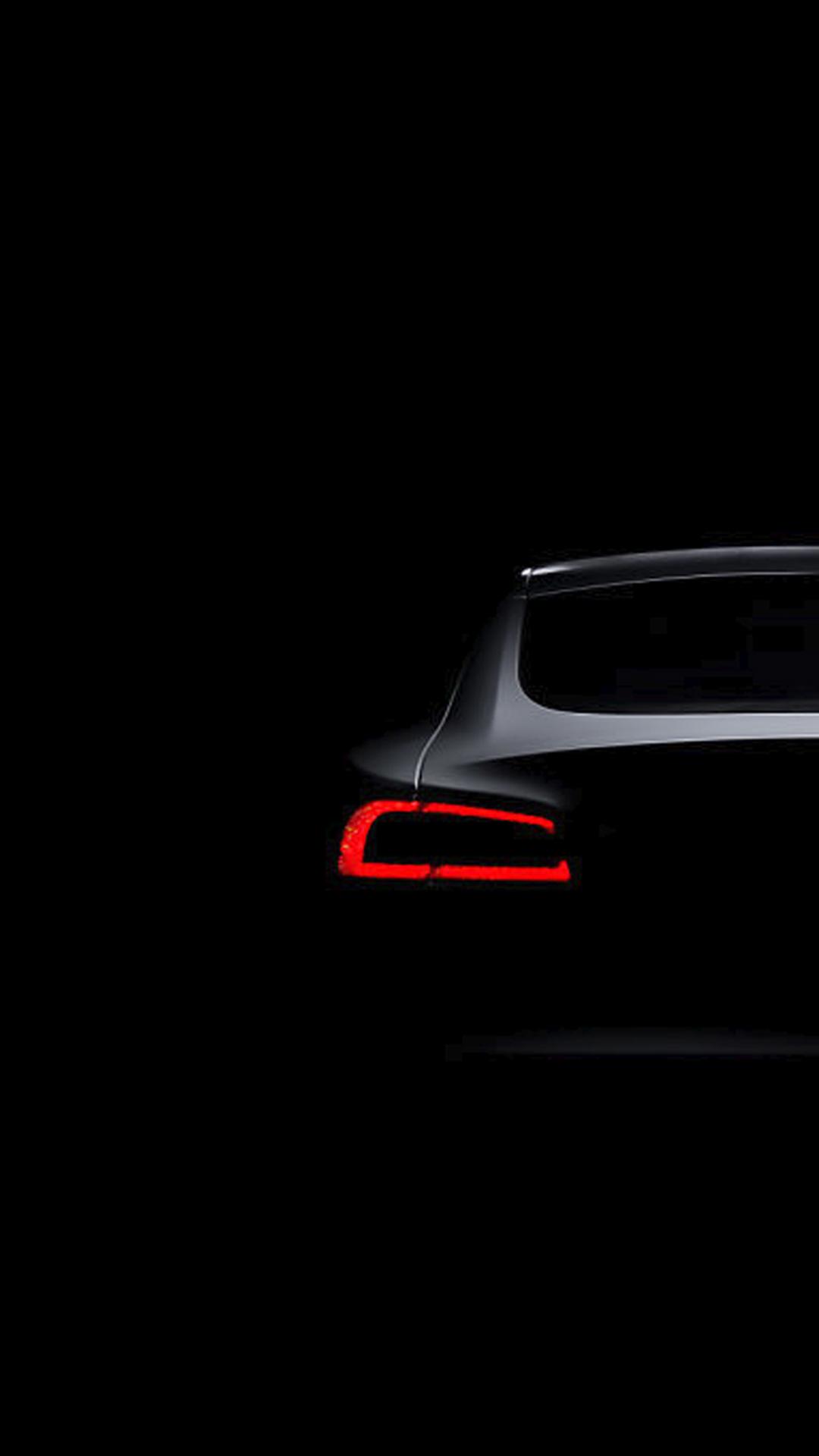 Black Wallpapers Tesla Model S Dark Brake Light iPhone 6 ...