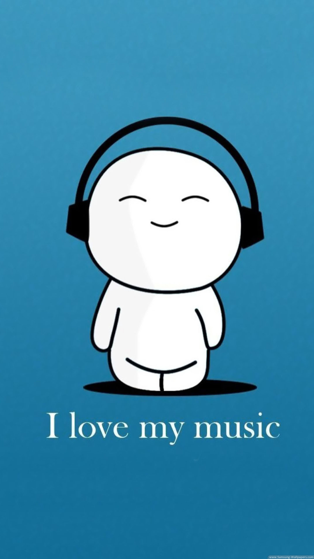 Cartoon Wallpapers I Love My Music Cartoon iPhone 6 Plus ...