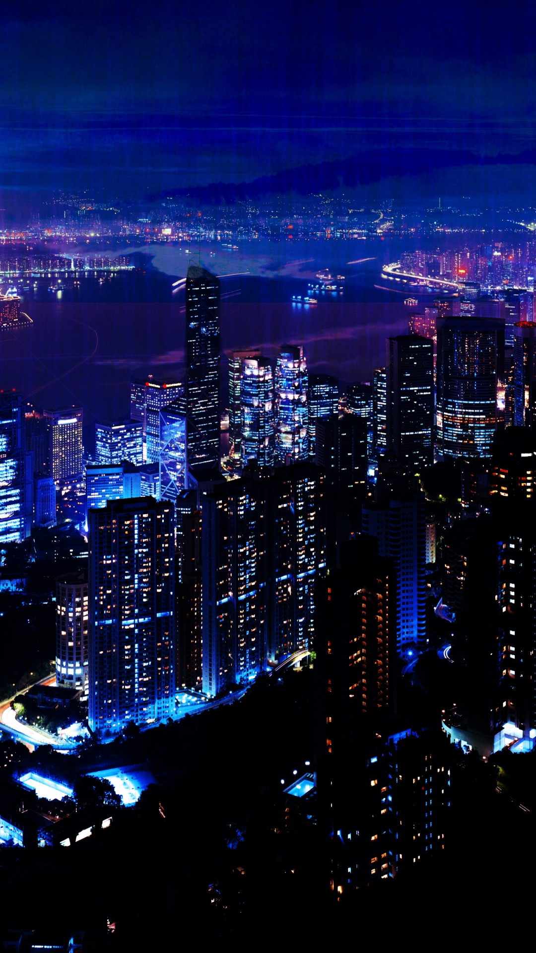Night Wallpaper night city sky skyscrapers 79288 1080x1920 ...